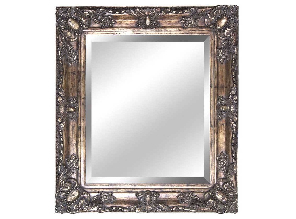Antique Bathroom Mirror Frame With Gold Finish | Home Interior with Antique Bathroom Mirrors (Image 2 of 15)