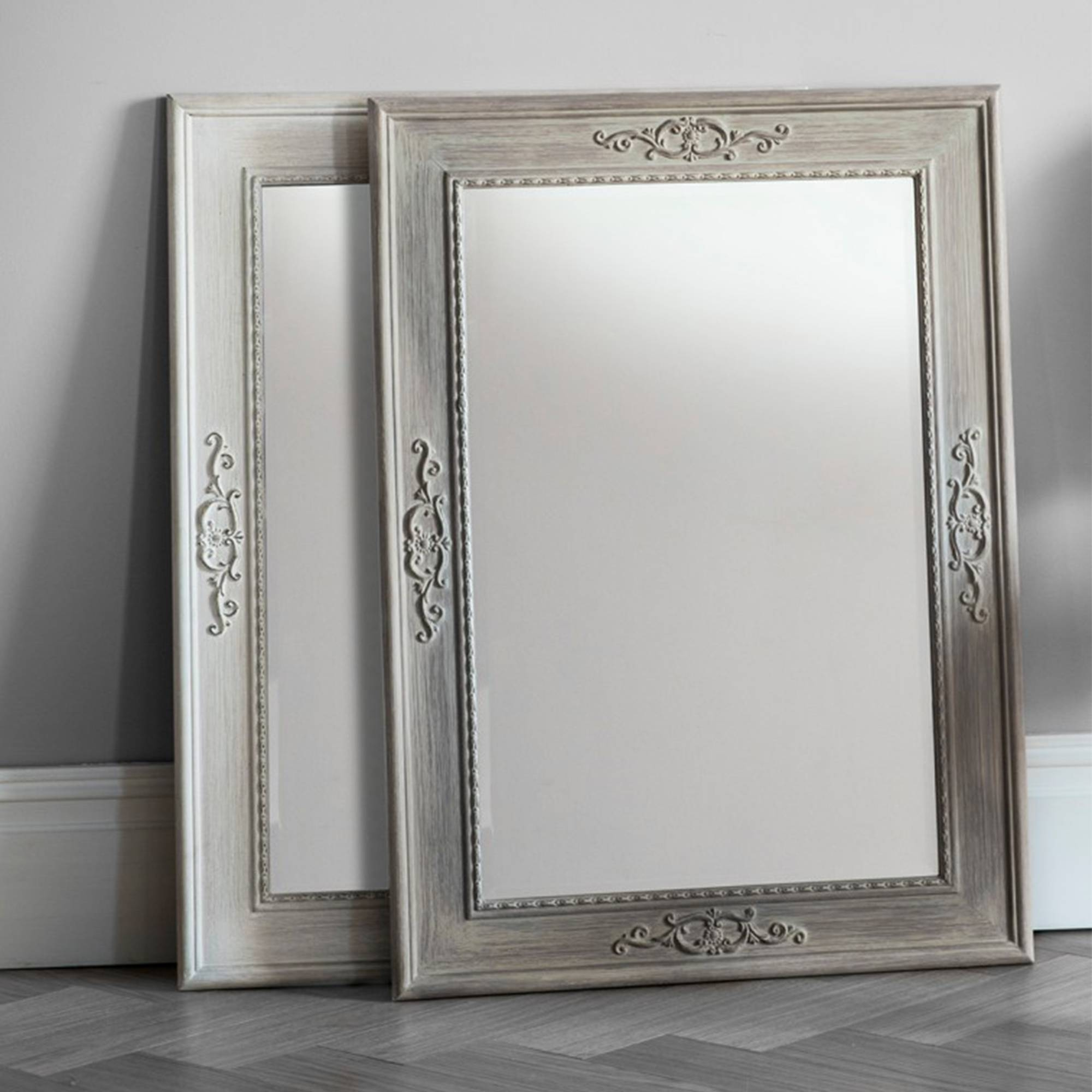 Antique French Style Wall Mirror With French Style Wall Mirrors (View 1 of 15)