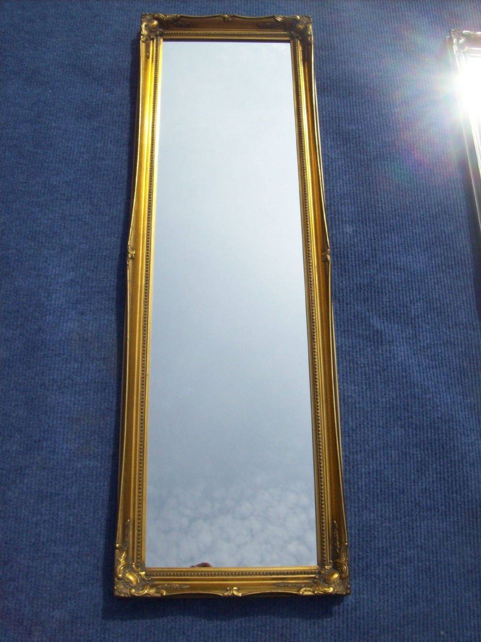 Antique Gold Full Length Dressing Mirror with regard to Gold Full Length Mirrors (Image 1 of 15)