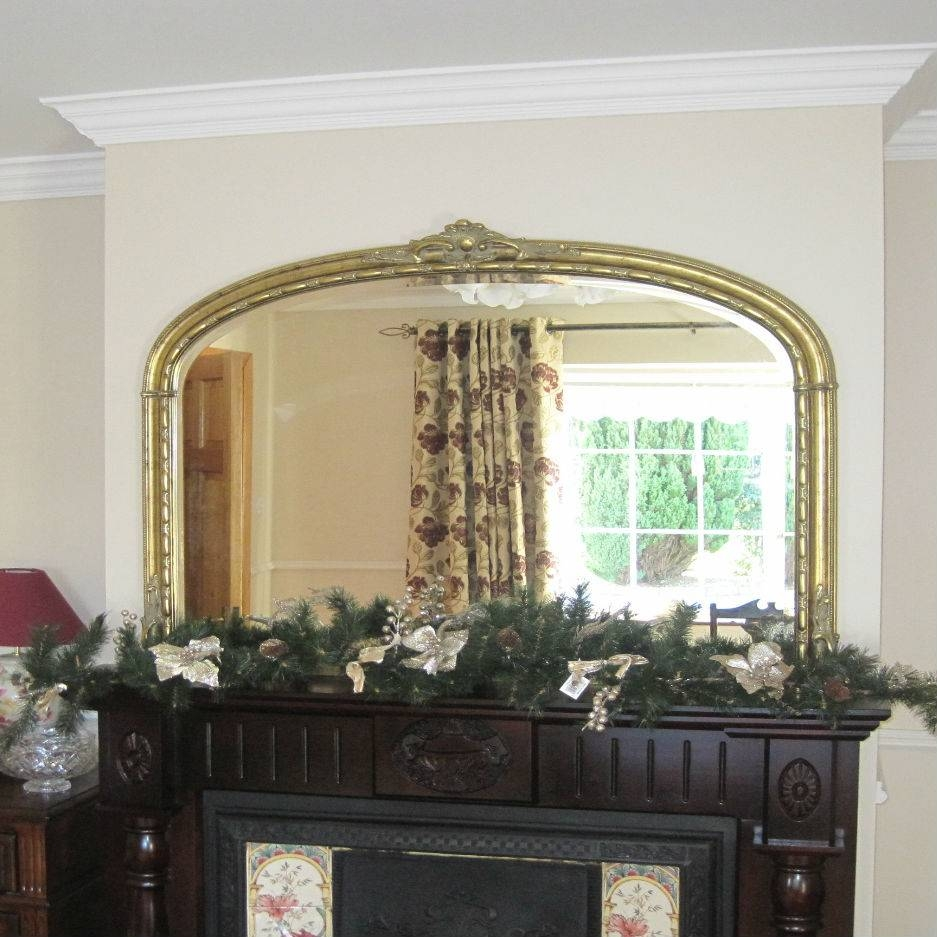 Antique Gold Overmantle – Mirrors.ie intended for Gold Mantle Mirrors (Image 1 of 15)