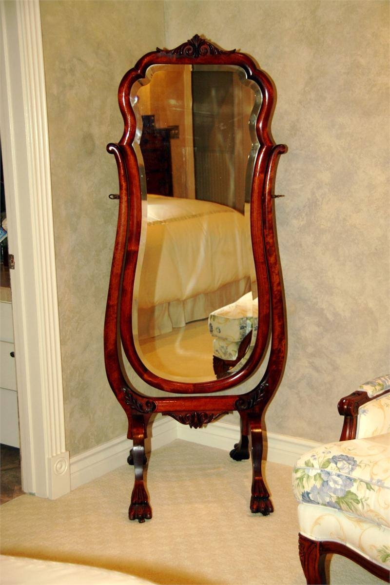 Antique Mahogany Full Length Cheval Mirror In Full Length Antique Mirrors (View 5 of 15)