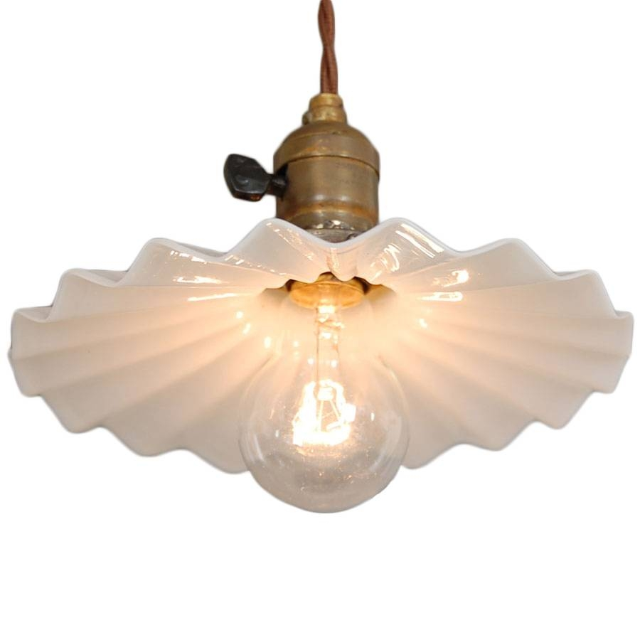 Antique Milk Glass Pendant | Vintage Chandeliers At Lumfardo With Regard To Milk Glass Pendant Lights (View 10 of 15)