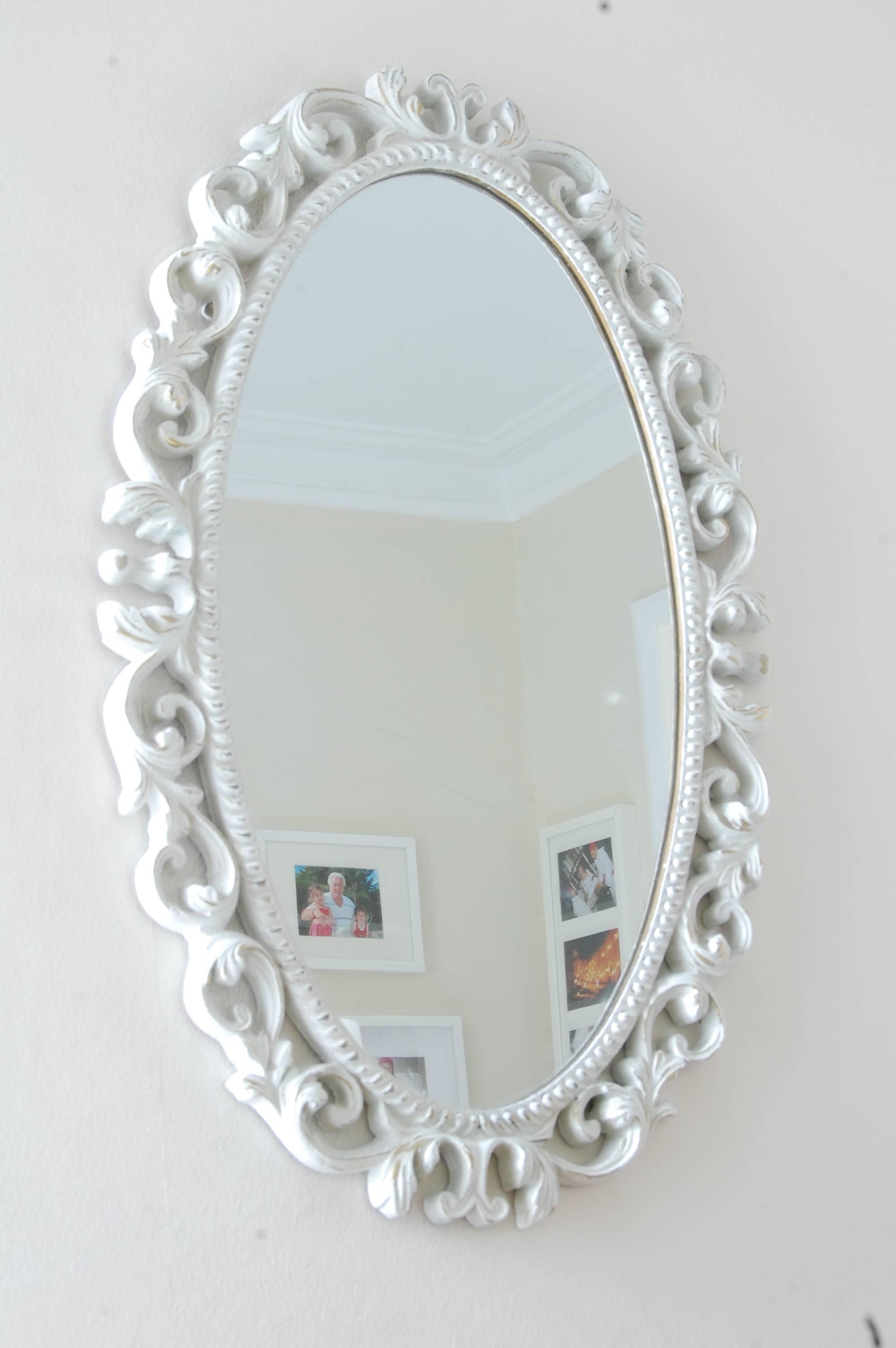 Antique Oval Mirror - Lovestruck Interiors regarding Antique White Oval Mirrors (Image 3 of 15)