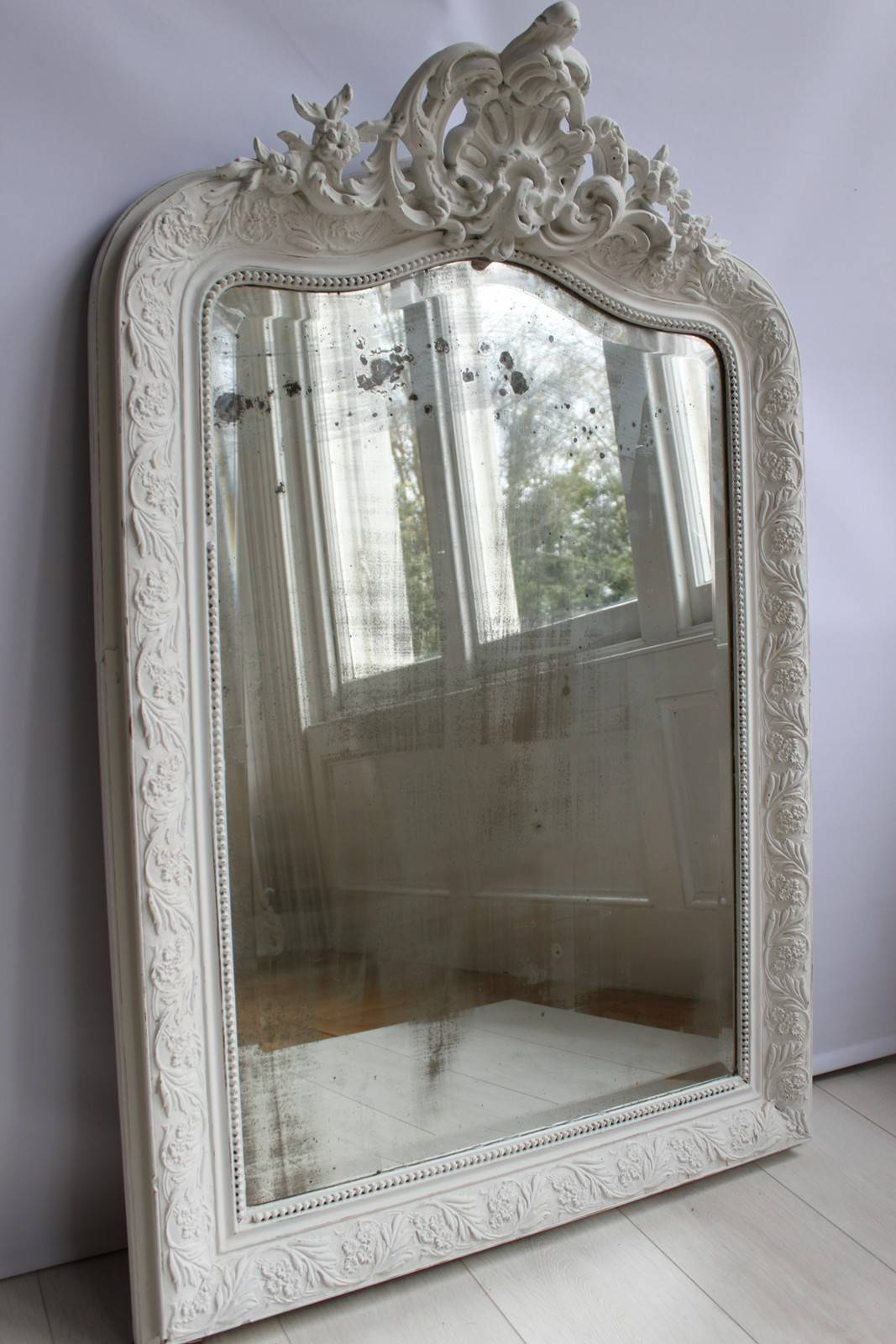 Antique Painted French Mirror - The Hoarde with French Vintage Mirrors (Image 9 of 15)