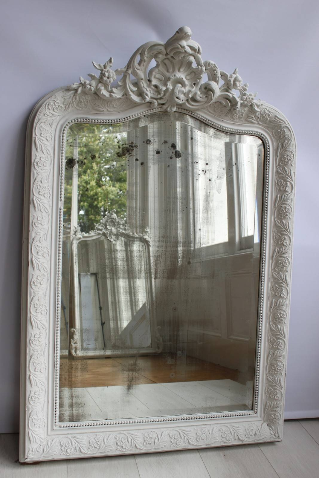 Antique Painted French Mirror - The Hoarde with French Vintage Mirrors (Image 8 of 15)