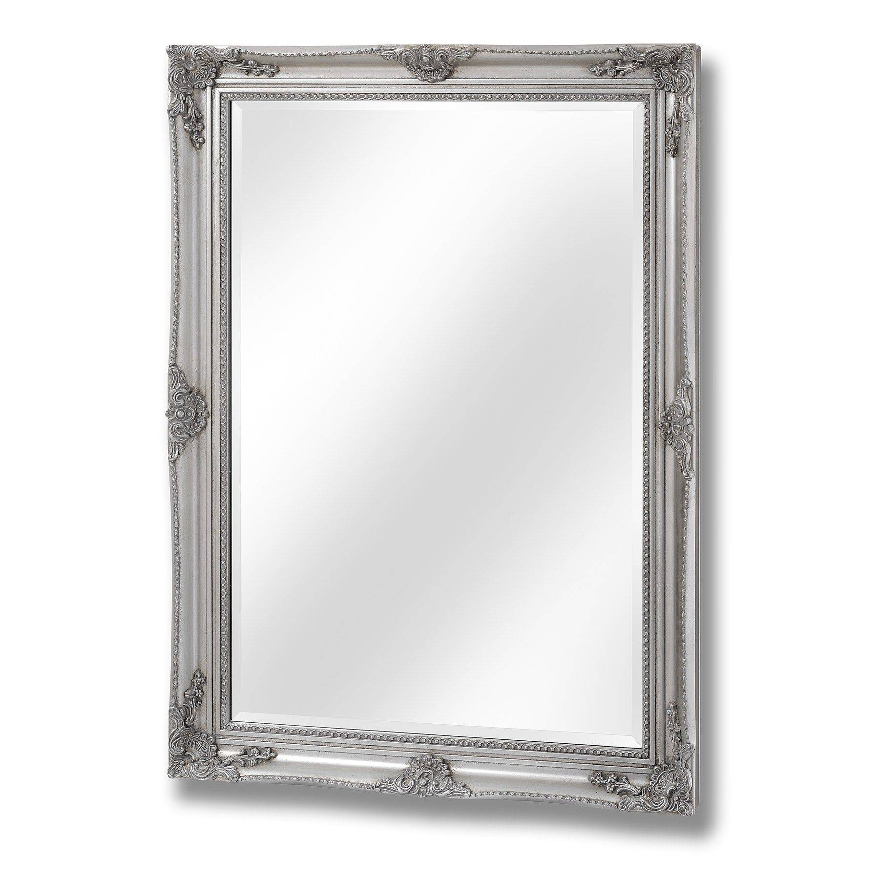 Antique Silver Baroque Style Mirror Pertaining To Silver Baroque Mirrors (View 1 of 15)