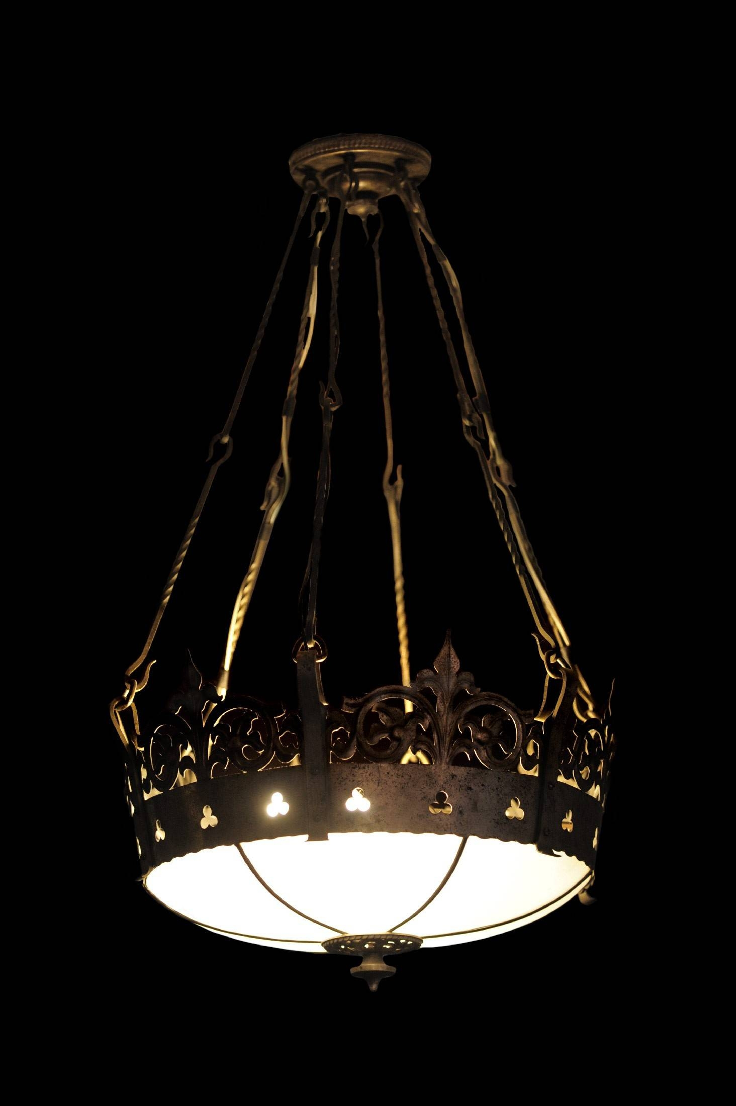 Antique Silver Plated Brass Gothic Church Pendant Light Fixture with Church Pendant Lights Fixtures (Image 2 of 15)