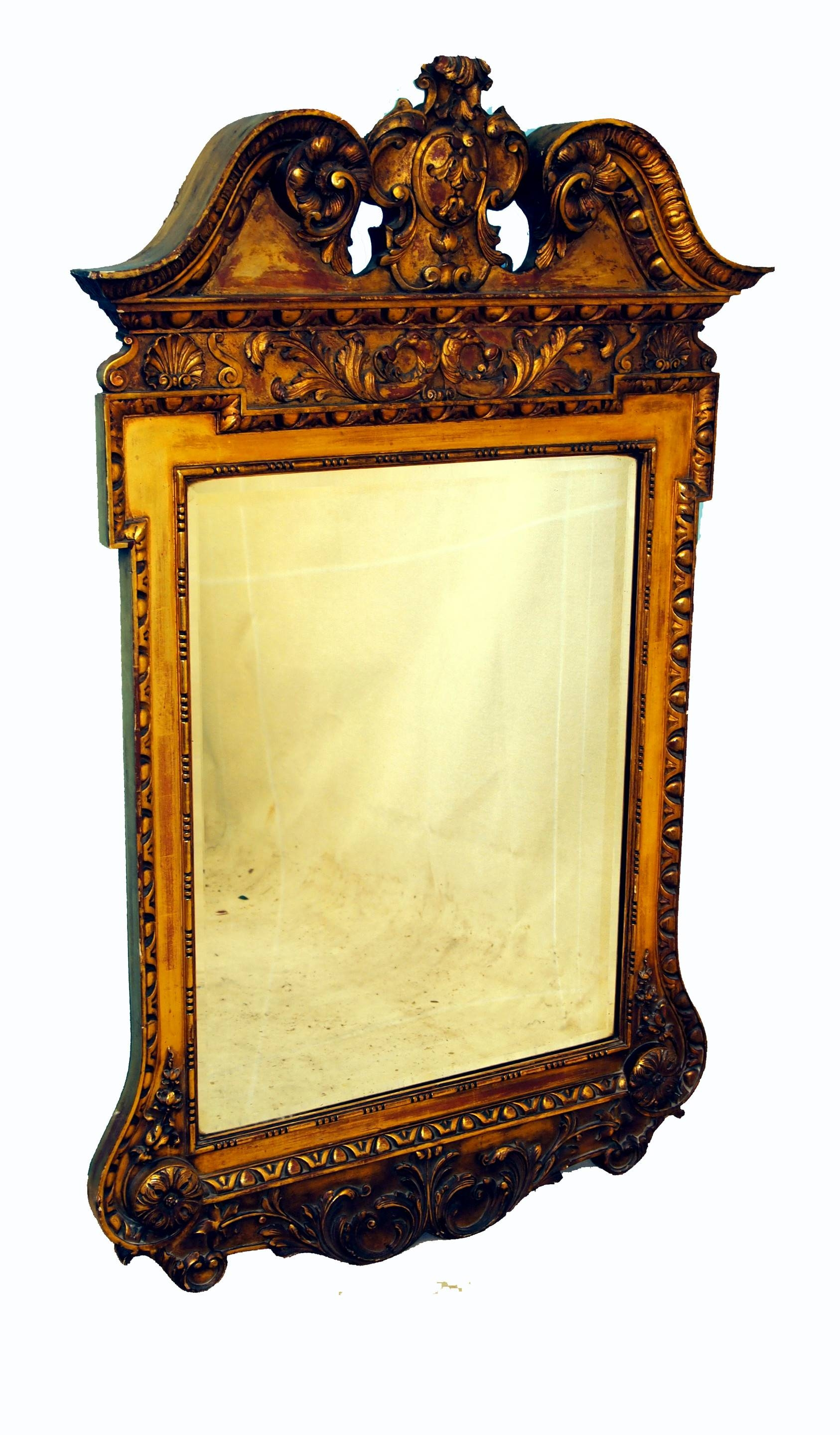Antique Victorian Gilt Wall Mirror In The Manner Of William Kent for Antique Victorian Mirrors (Image 4 of 15)