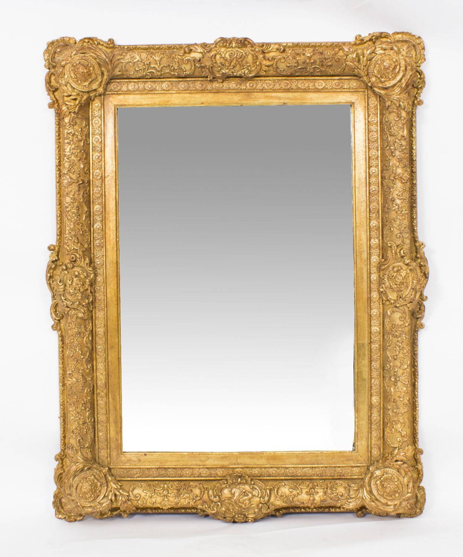 Antique Victorian Giltwood Mirror C.1860 75X95Cm | Vinterior throughout Antique Victorian Mirrors (Image 5 of 15)