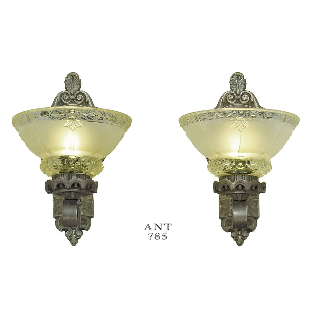 Antique Wall Sconces Edwardian Lighting Fixtures Cup Shade Lights throughout Edwardian Lights Fixtures (Image 7 of 15)