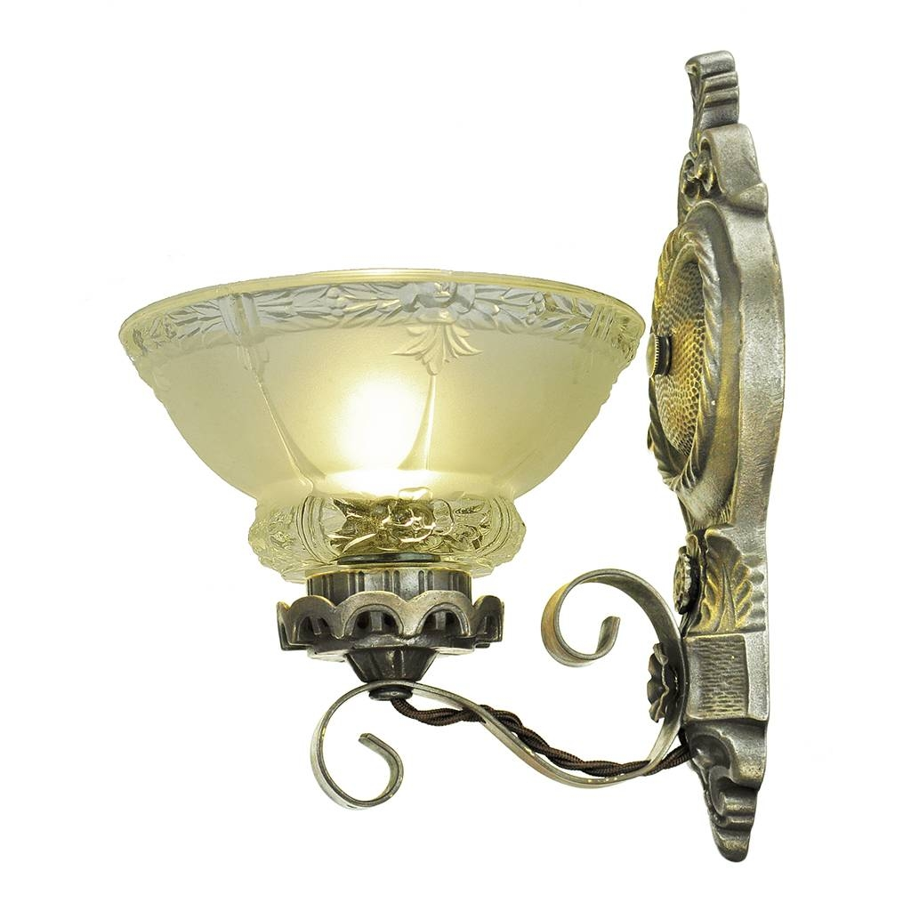 Antique Wall Sconces Edwardian Lighting Fixtures Cup Shade Lights throughout Edwardian Lights Fixtures (Image 6 of 15)