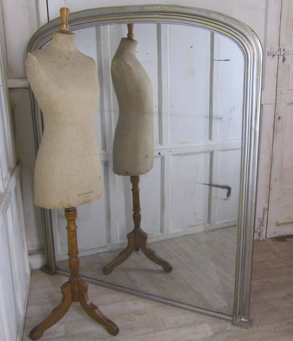 Antiques Atlas - 5Ft Tall 19Th Century Shabby Silver Wall Mirror throughout Large Overmantle Mirrors (Image 5 of 15)