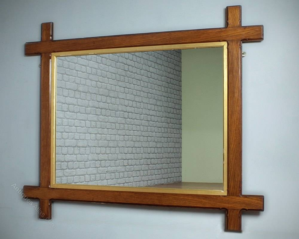 Antiques Atlas - Gothic Oak Overmantle Mirror C.1890. in Wooden Overmantle Mirrors (Image 4 of 15)