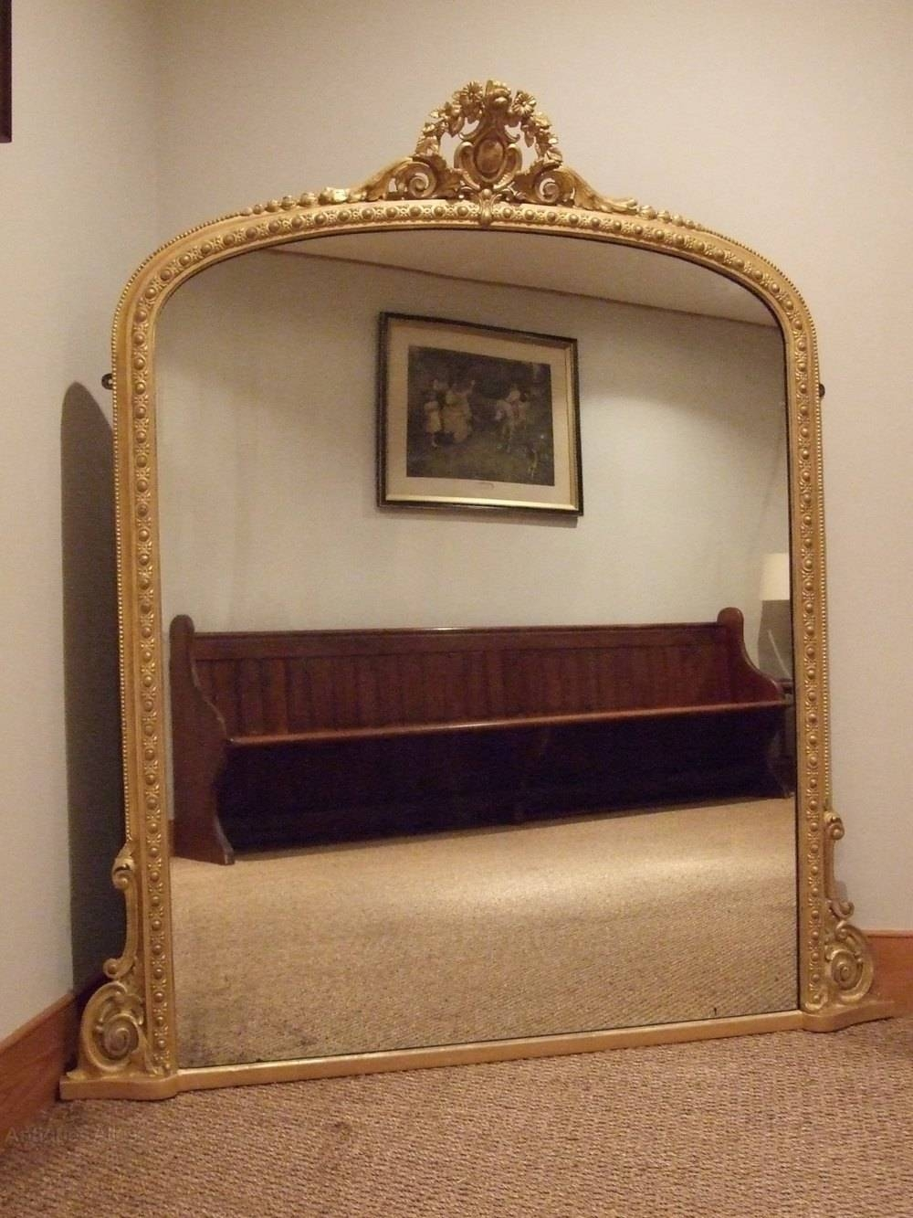 Antiques Atlas - Large Antique Gilt Wood Overmantle Mirror C1880 with regard to Antique Overmantle Mirrors (Image 5 of 15)