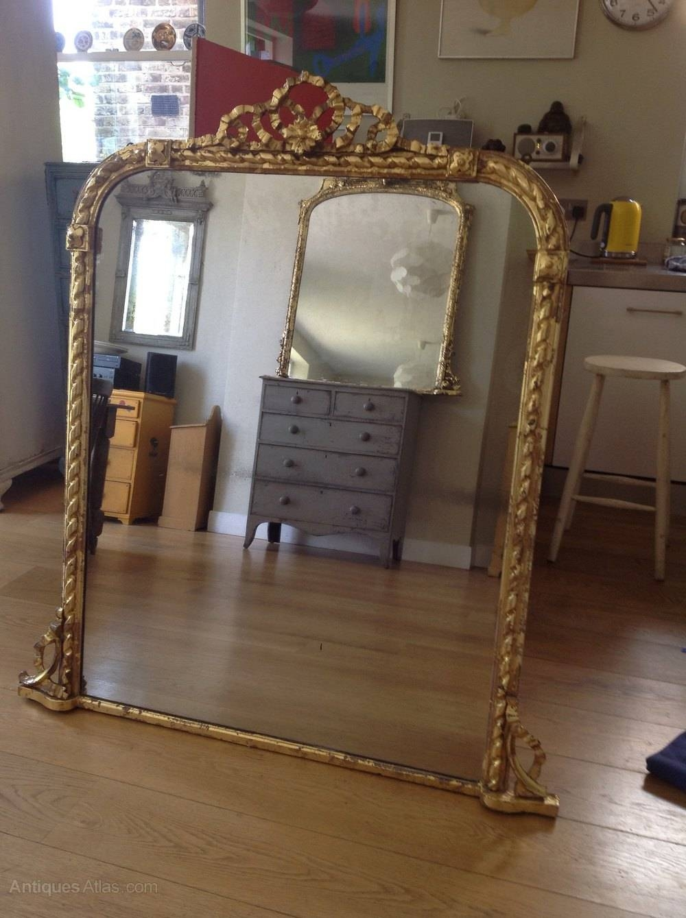 Antiques Atlas - Large Victorian Mirror intended for Antique Victorian Mirrors (Image 9 of 15)