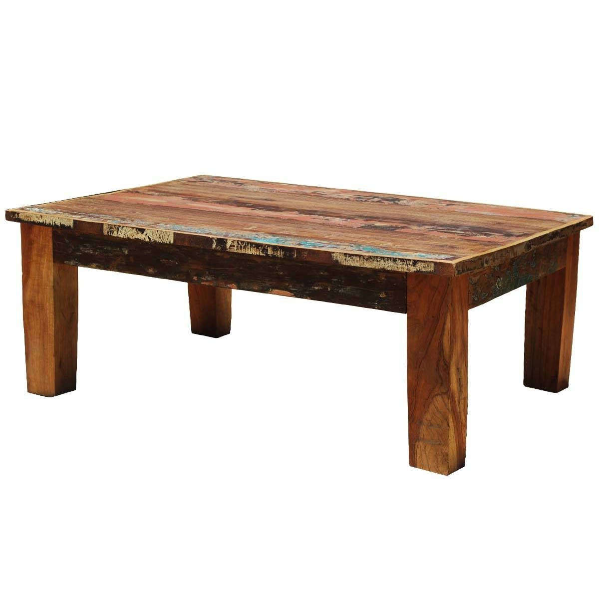Appalachian Rustic Mixed Reclaimed Wood Coffee Table throughout Reclaimed Wood Coffee Tables (Image 1 of 15)