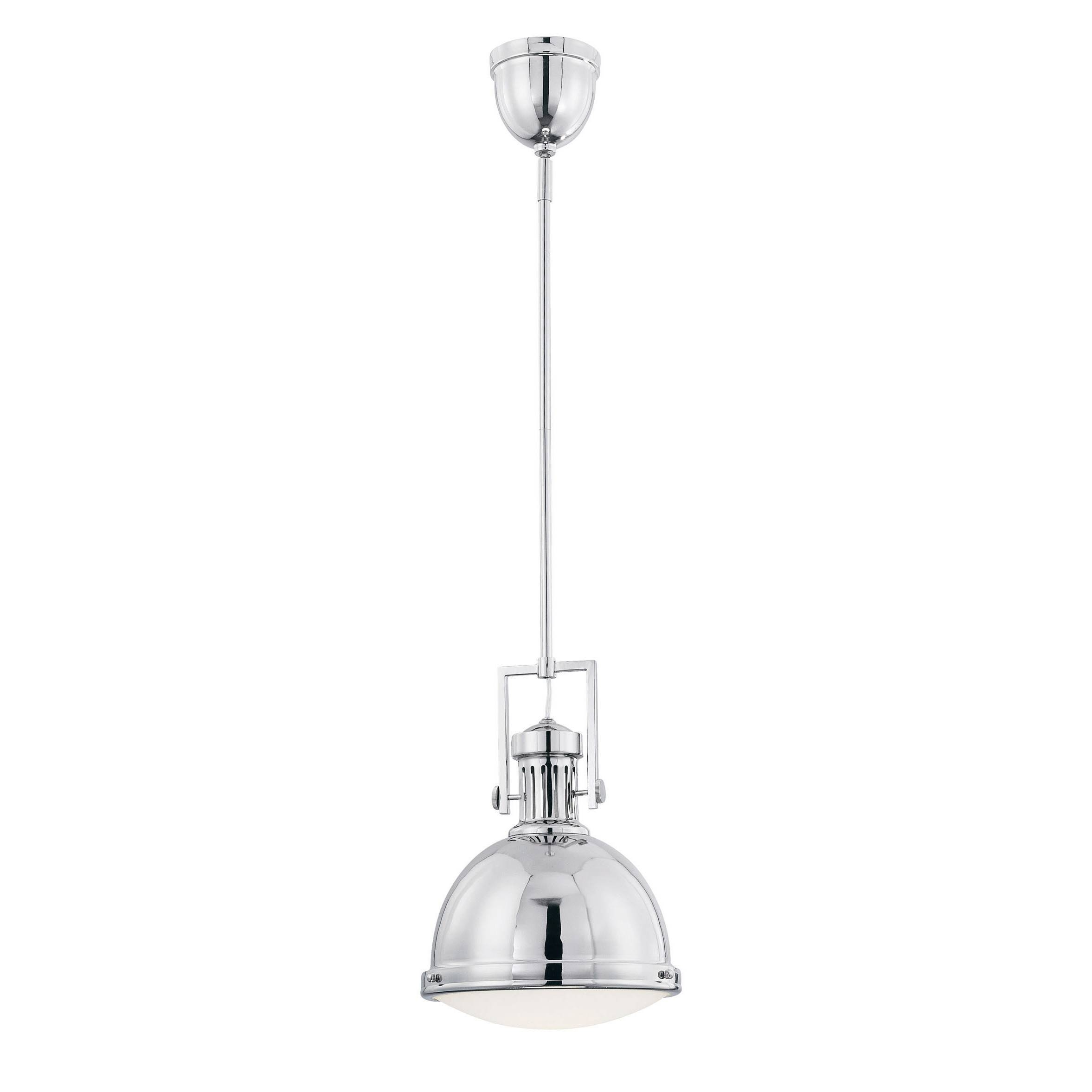 Appliances: Stylish Chrome Finish Stainless Steel Industrial inside Stainless Steel Industrial Pendant Lights (Image 3 of 15)