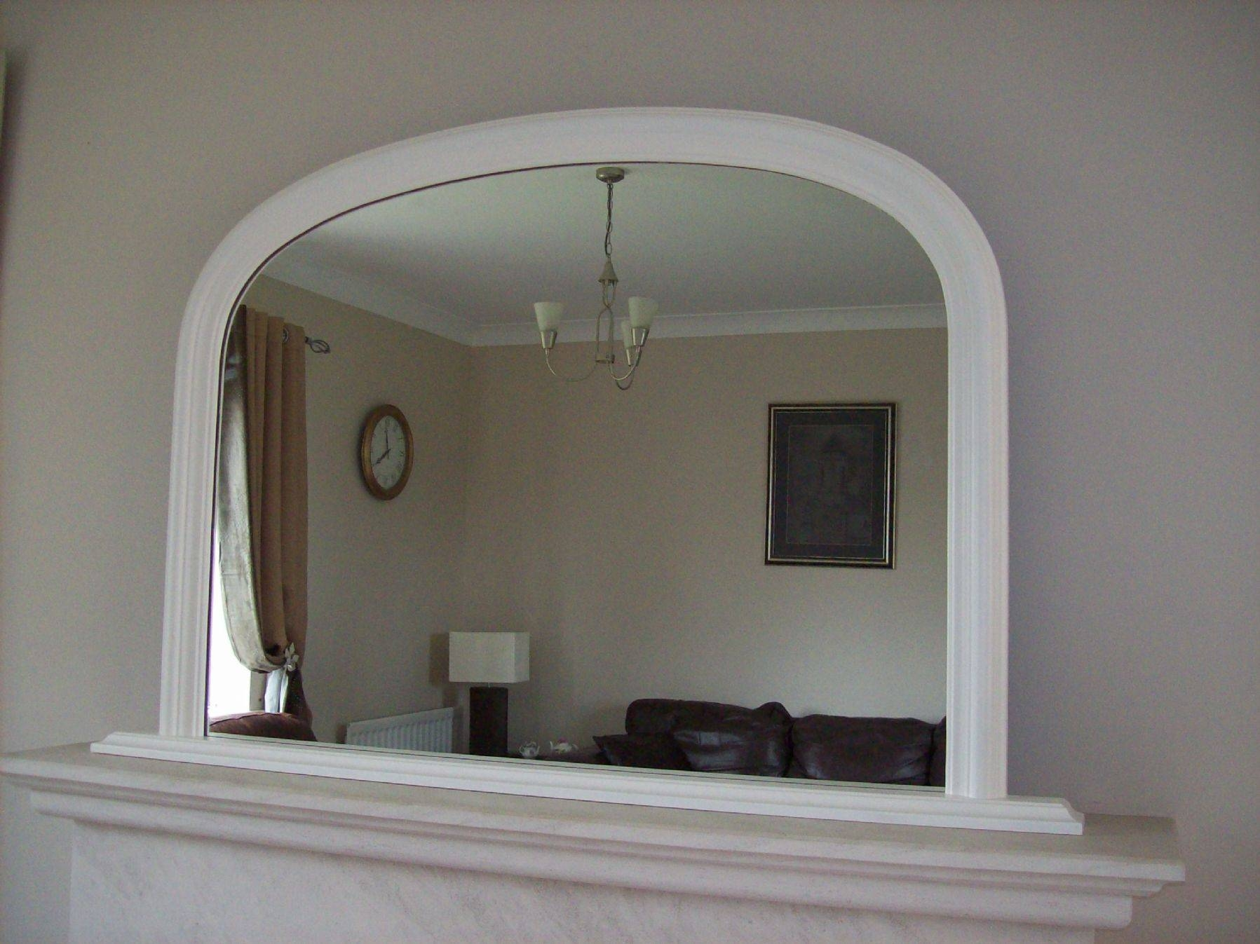 Arched Overmantle Mirror Pertaining To White Arch Mirrors (View 3 of 15)
