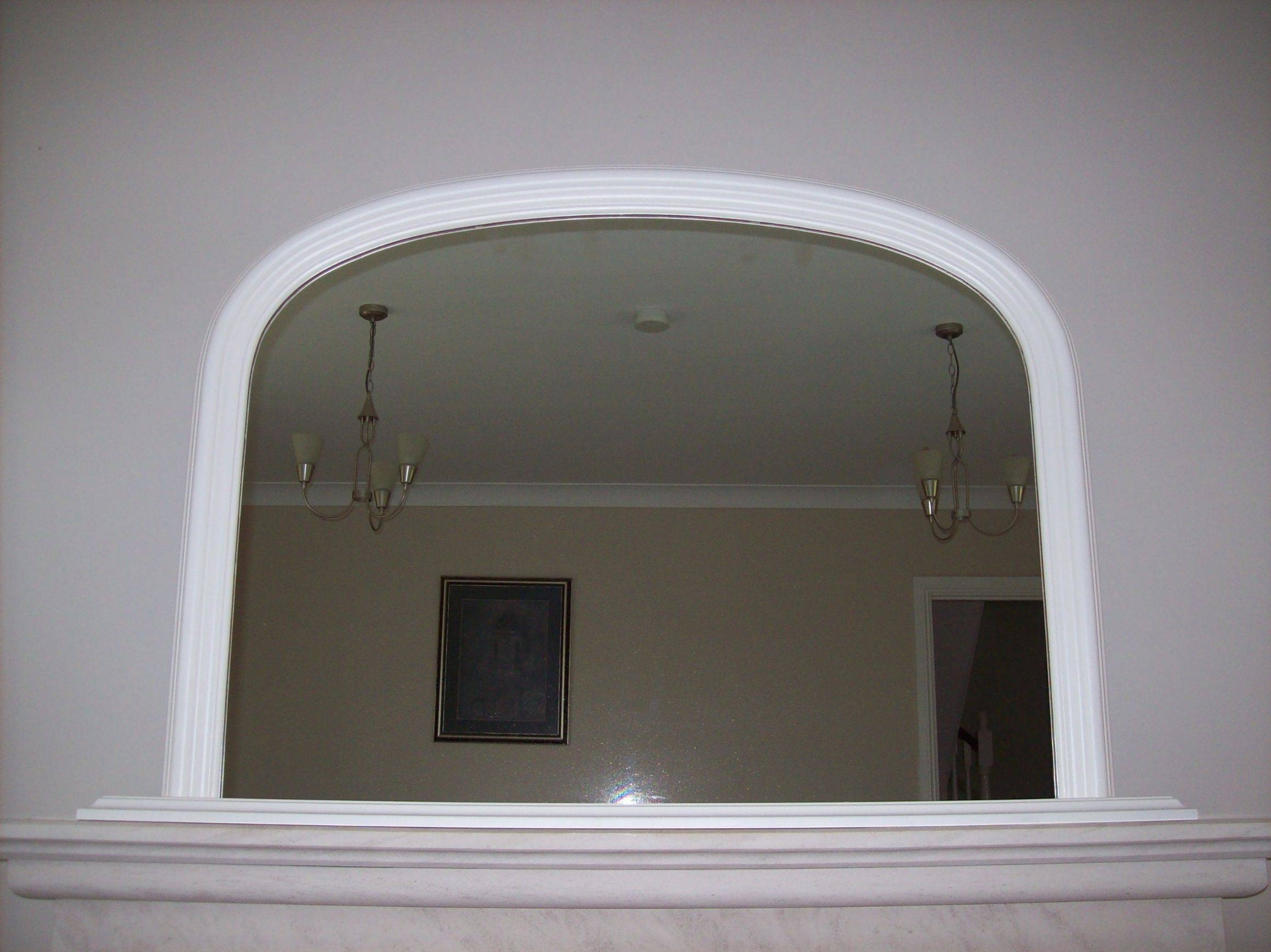 Arched Overmantle Mirror Within White Overmantle Mirrors (View 8 of 15)