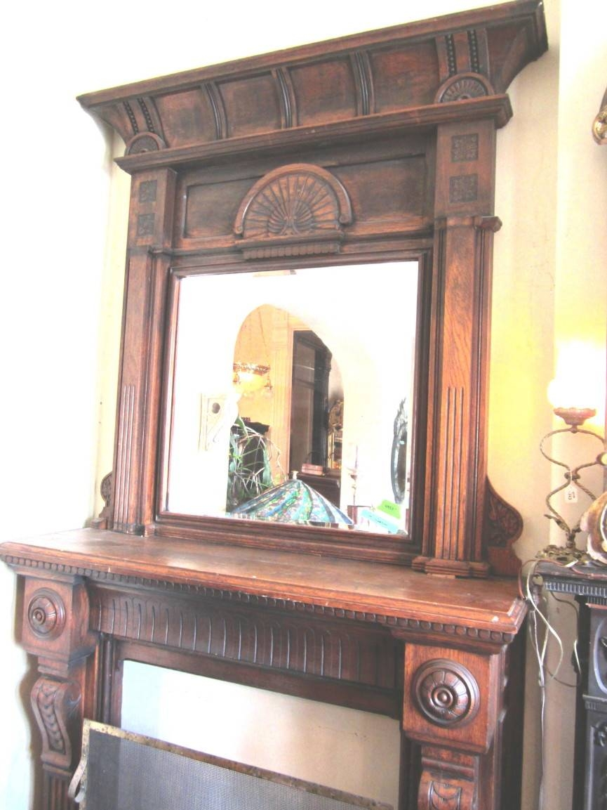 Architechural Salvage Specializes In Reproduction Mahogany within Large Mantel Mirrors (Image 2 of 15)