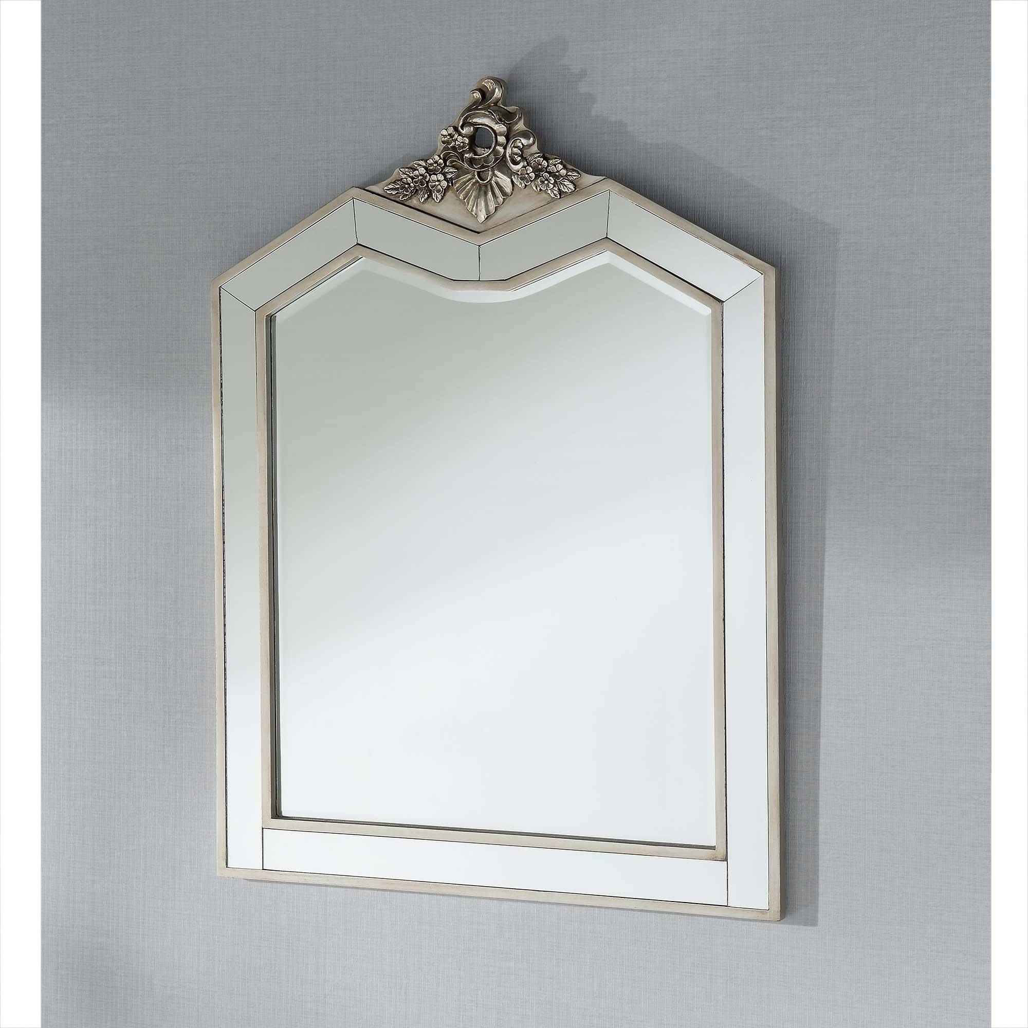 Argente Antique French Style Dressing Table Mirror - French pertaining to Antique French Mirrors (Image 9 of 15)