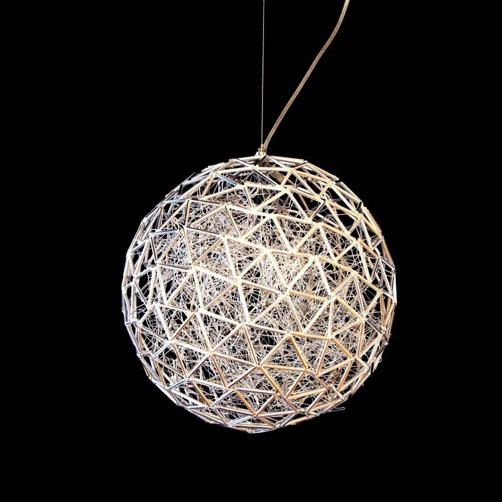 Arrow 10 Light Spherical Wire Abstract Ceiling Pendant Light with Wire Ball Pendant Lights (Image 2 of 15)