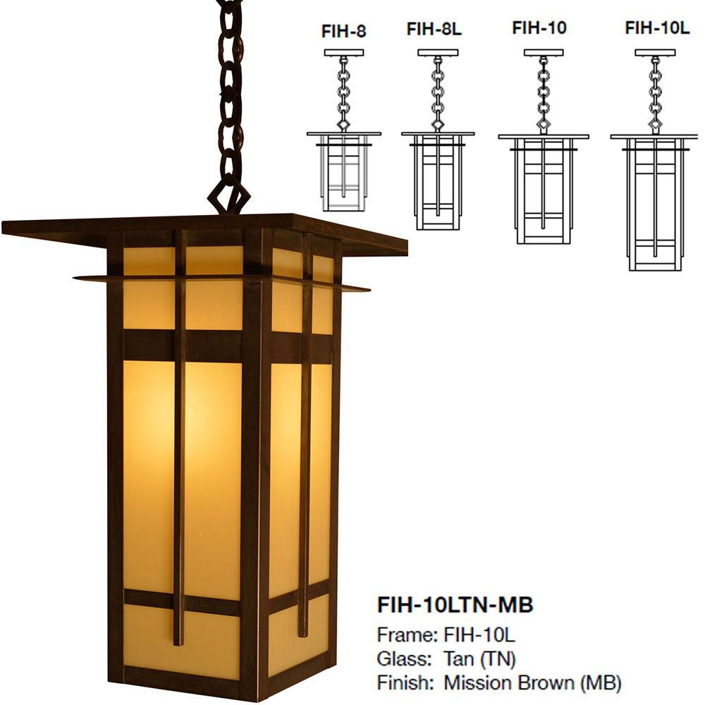 Arroyo Craftsman Fih Finsbury Mission Exterior Hanging Light - Arr-Fih with regard to Mission Pendant Lights (Image 1 of 15)