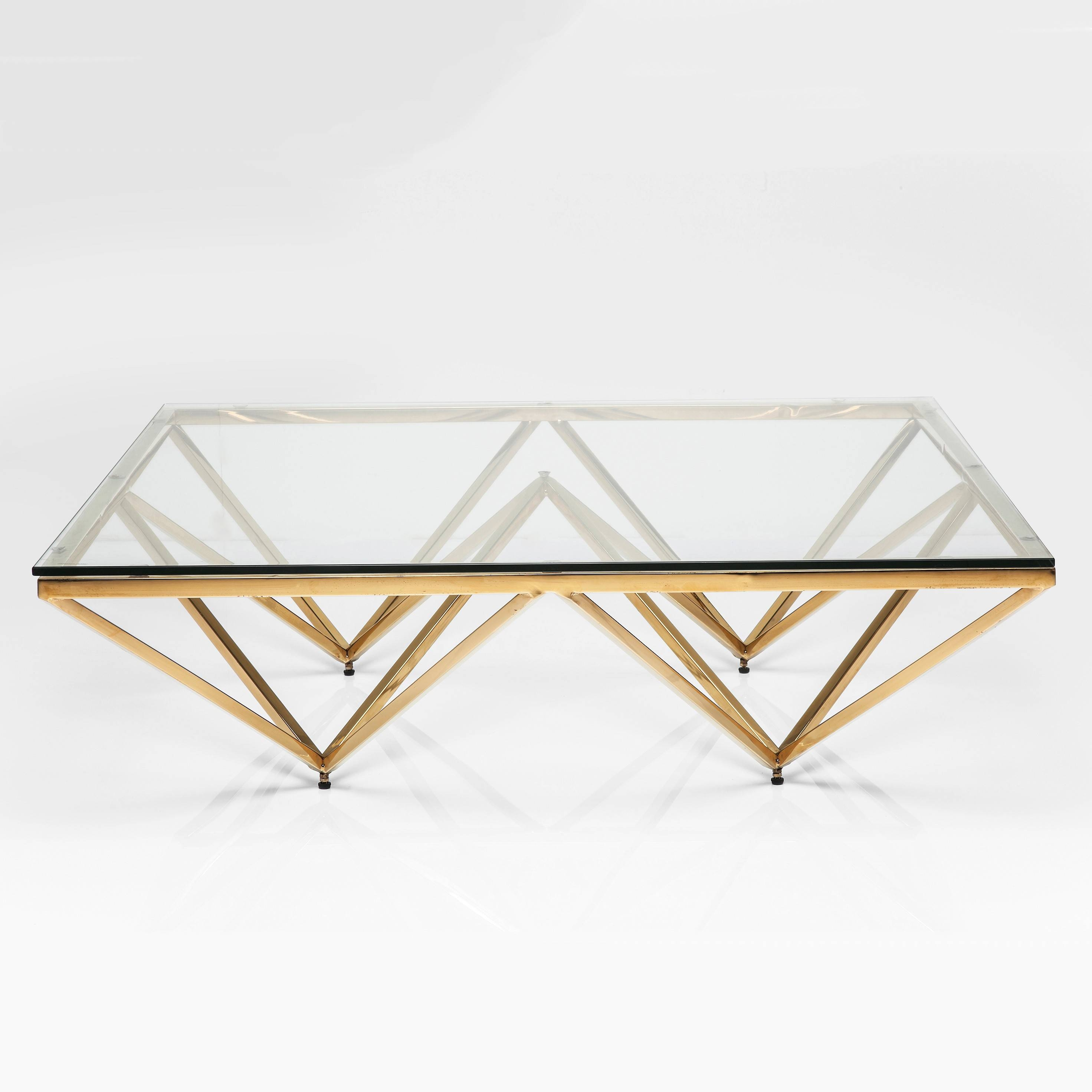 Art Deco Brass Square Glass Coffee Table | I Love Retro for Square Glass Coffee Table (Image 1 of 15)