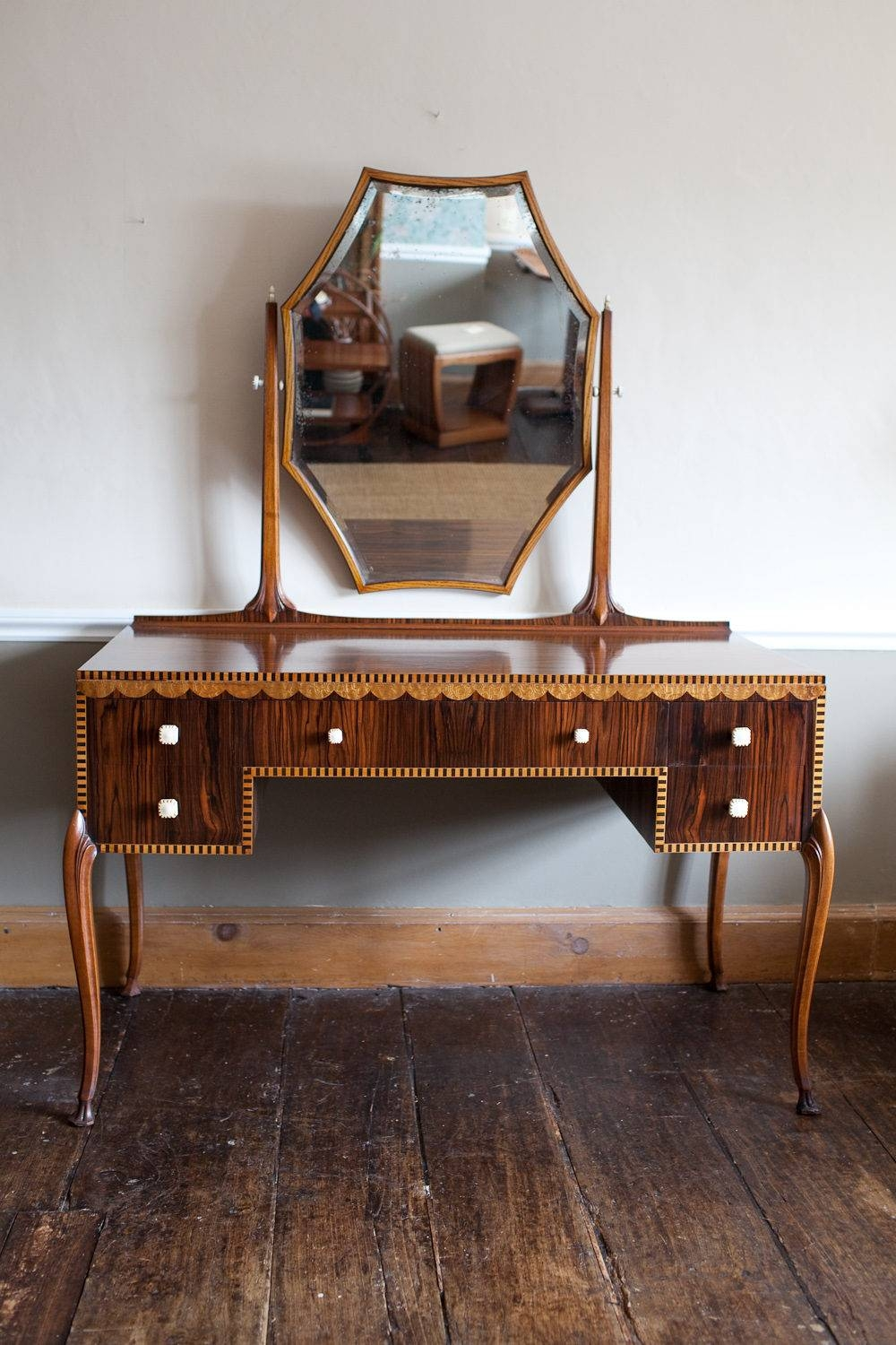 Art Deco Dressing Table - Antiques Atlas intended for Art Nouveau Dressing Table Mirrors (Image 4 of 15)