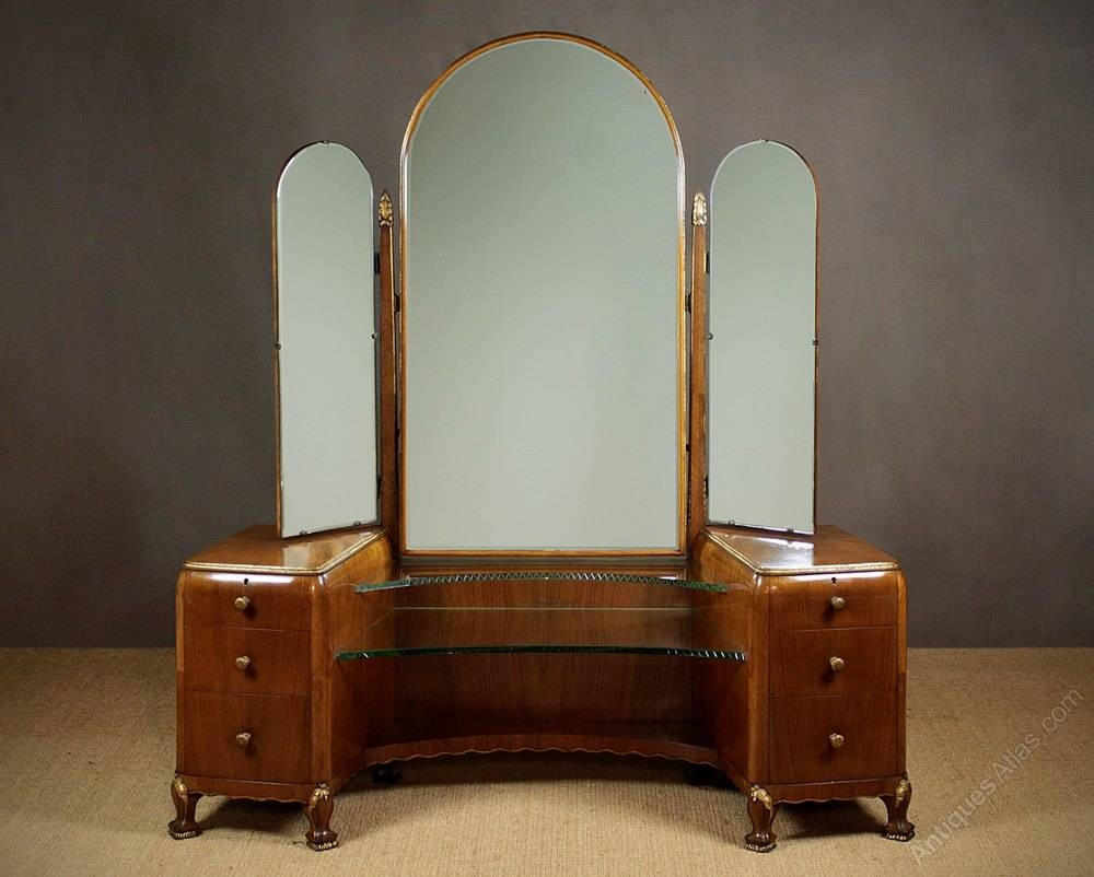 Art Deco Dressing Table C.1930. - Antiques Atlas pertaining to Art Deco Dressing Table Mirrors (Image 6 of 15)