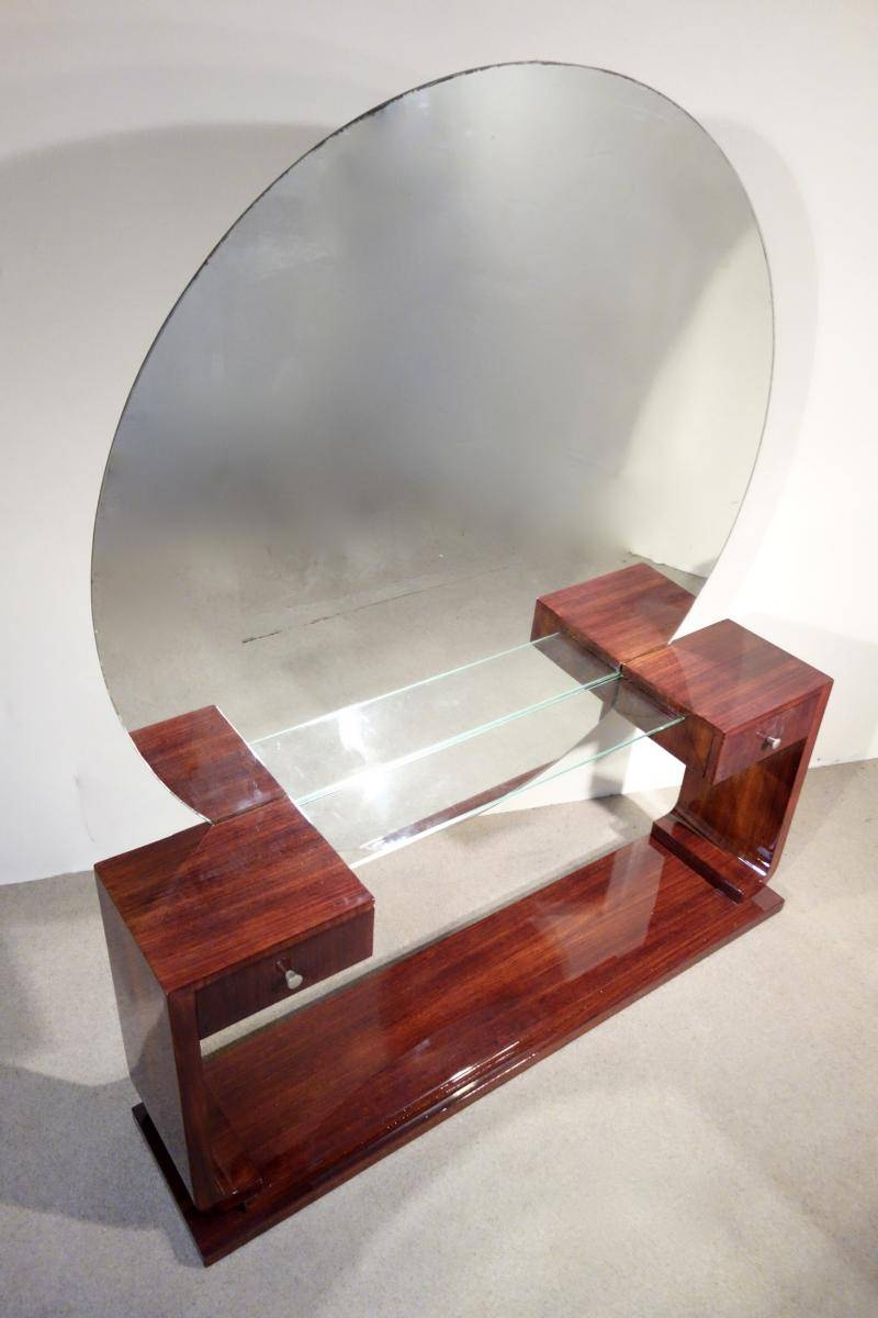 Art Deco Dressing Table With Mirror For Sale At Pamono intended for Art Deco Dressing Table Mirrors (Image 9 of 15)