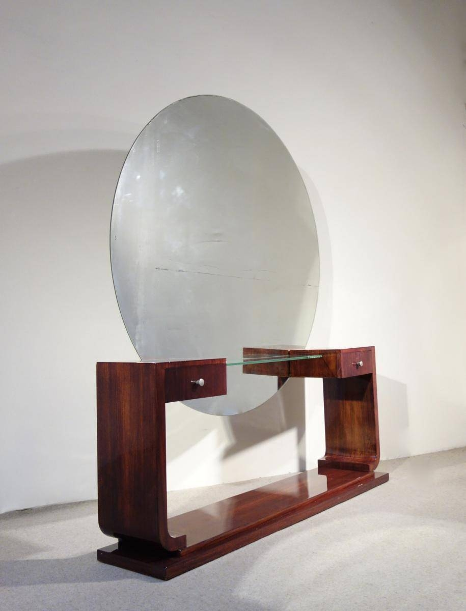 Art Deco Dressing Table With Mirror For Sale At Pamono with regard to Art Deco Dressing Table Mirrors (Image 10 of 15)