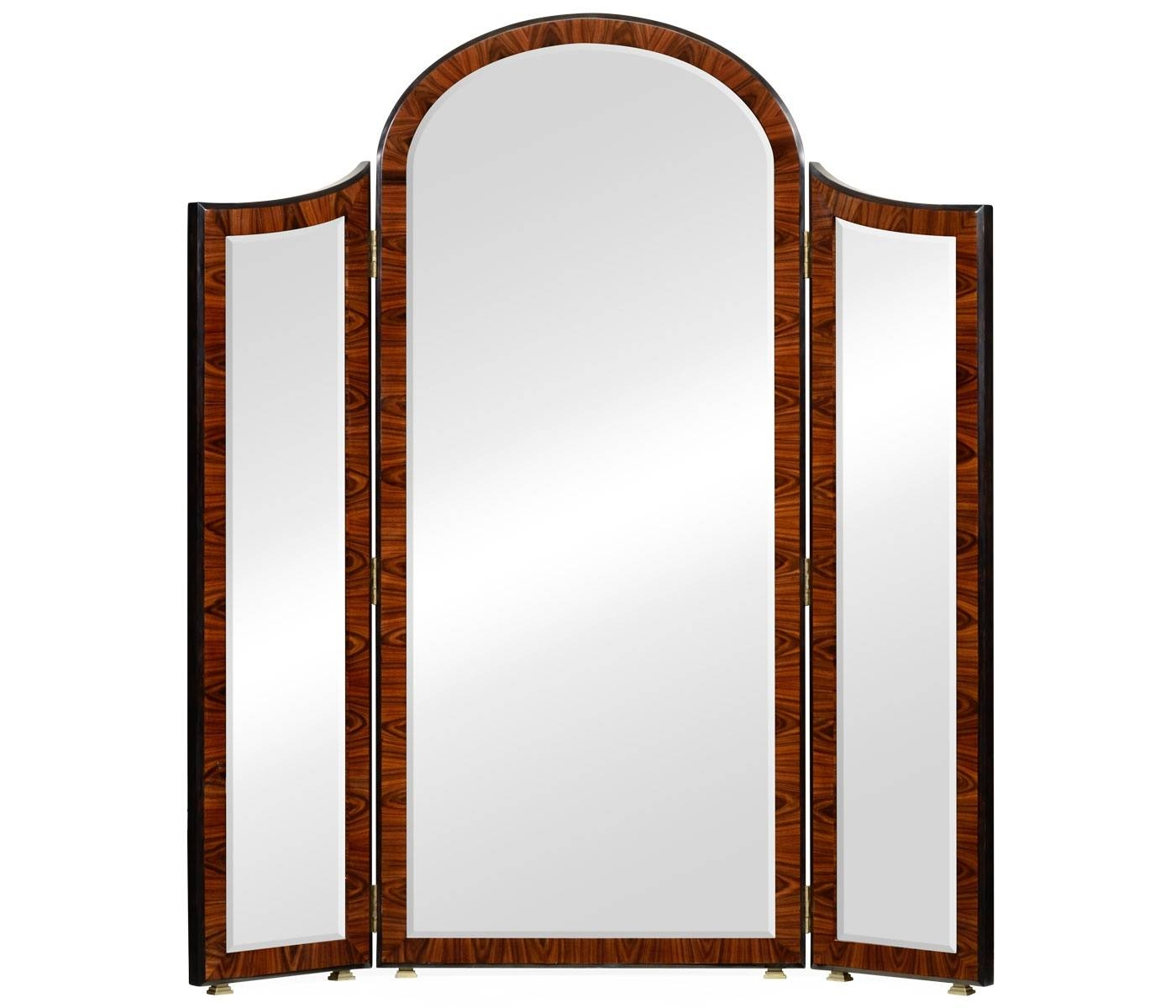 Art Deco Full Length Triple Dressing Mirror | Swanky Interiors with Art Deco Full Length Mirrors (Image 5 of 15)