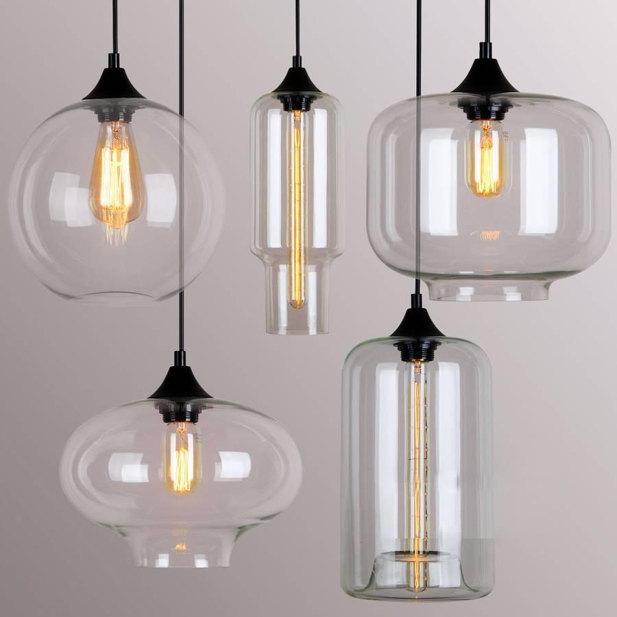 Art Deco Glass Pendant Lightunique's Co. | Notonthehighstreet regarding Art Glass Pendant Lights Shades (Image 1 of 15)