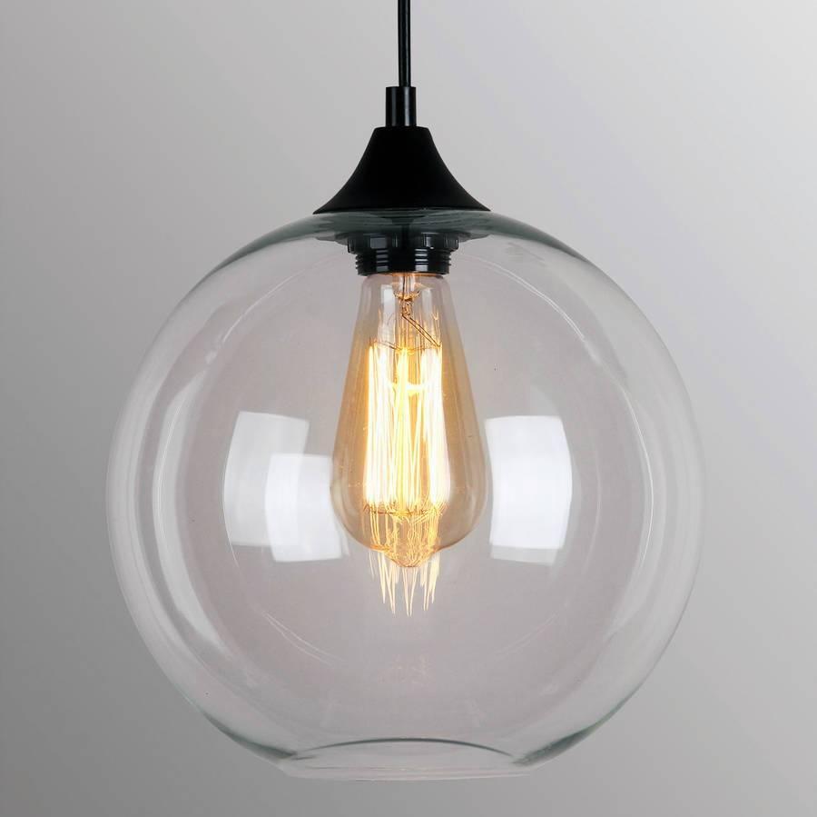 Art Deco Glass Pendant Lightunique's Co. | Notonthehighstreet with Unique Glass Pendant Lights (Image 1 of 15)