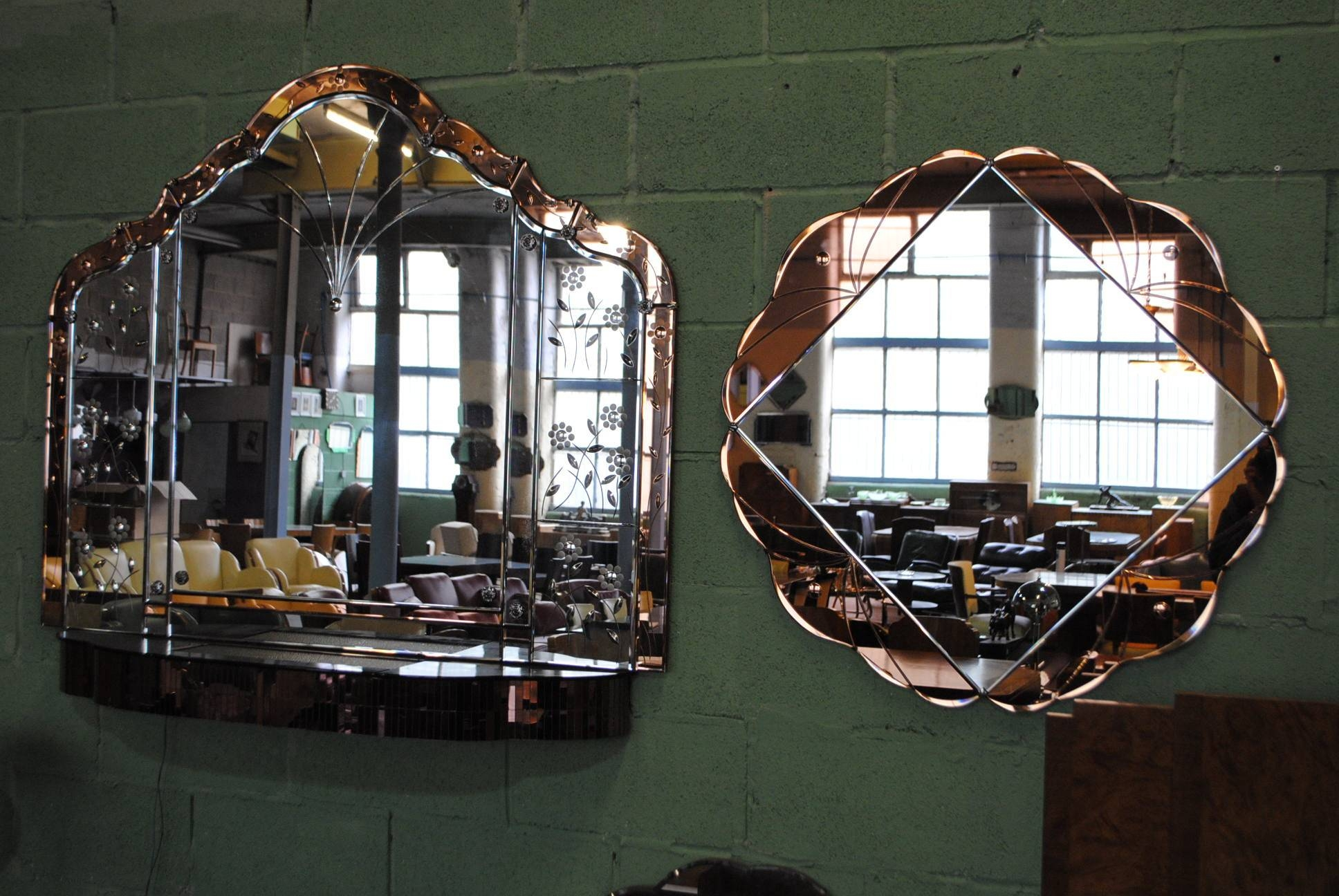 Art Deco Mirror || Cloud 9, Art Deco Furniture Sales intended for Art Deco Large Mirrors (Image 7 of 15)
