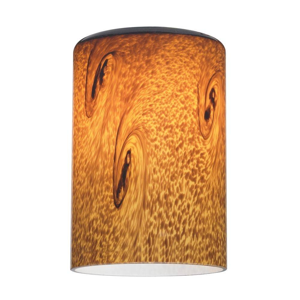 Art Glass Cylinder Shade - Lipless With 1-5/8-Inch Fitter Opening in Art Glass Pendant Lights Shades (Image 2 of 15)