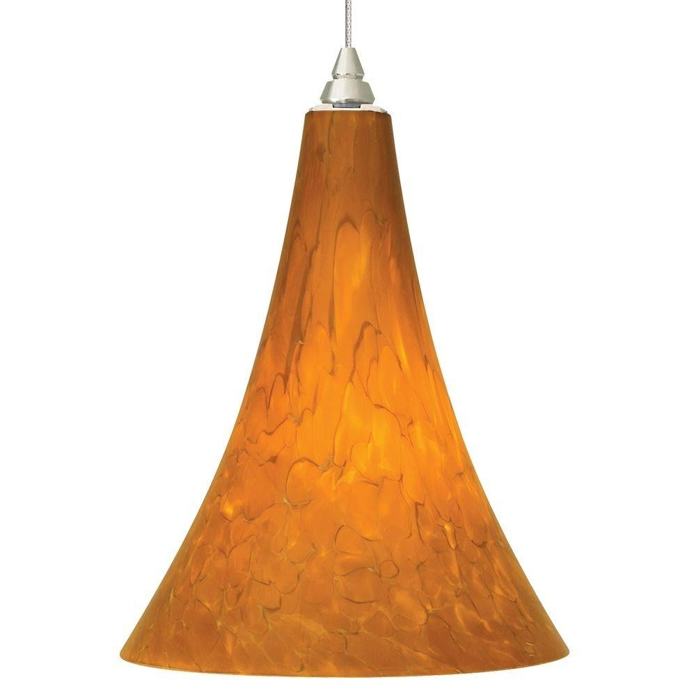 Art Glass Satin Nickel Mini-Pendant Lights | Destination Lighting regarding Art Glass Mini Pendants (Image 5 of 15)