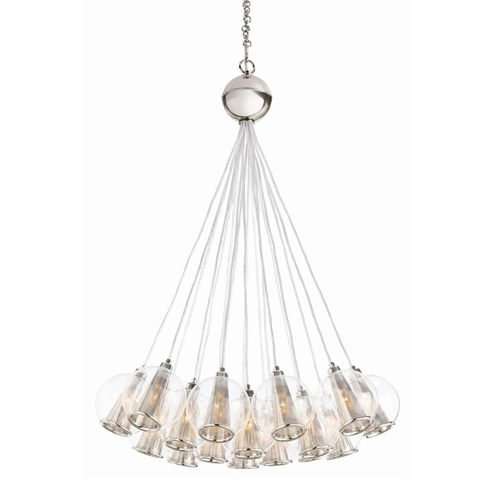 Arteriors Caviar Adjustable Bouquet - Nickel & Clear Glass within Caviar Lights Fixtures (Image 6 of 15)