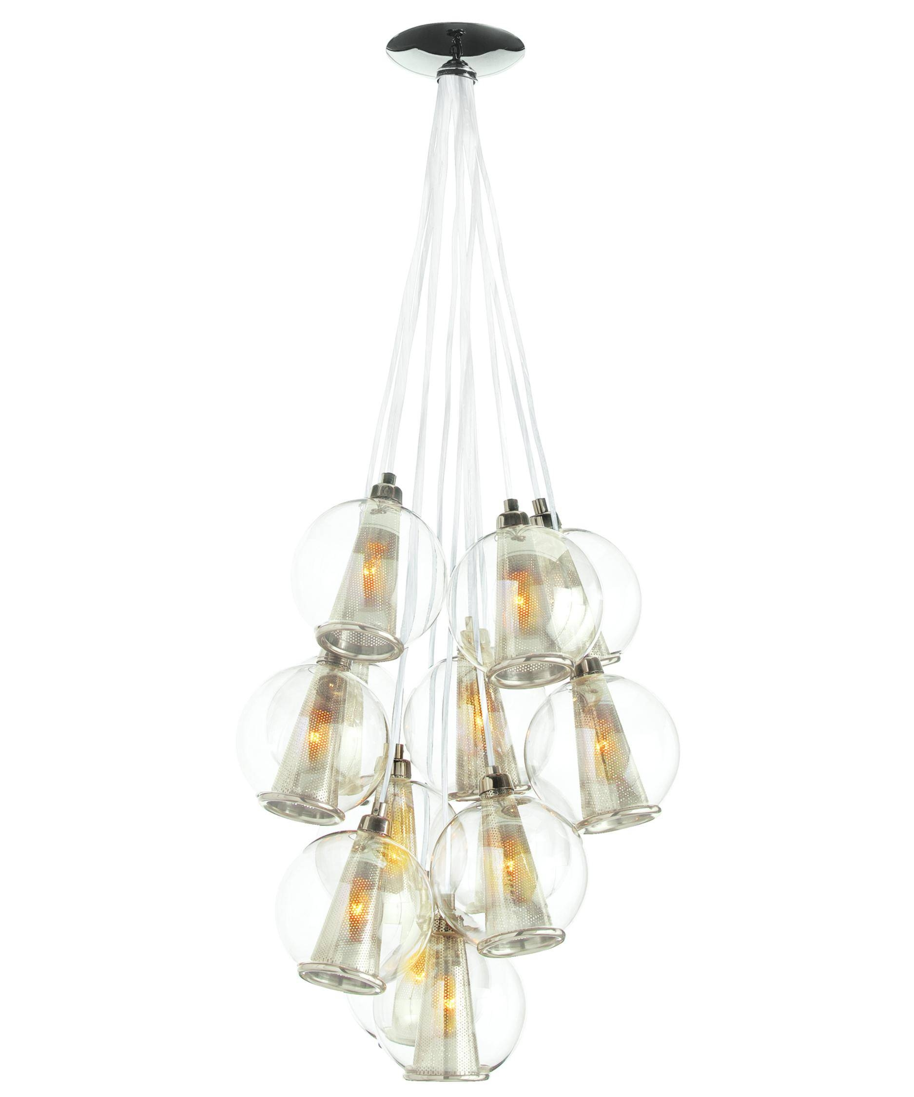 Arteriors Home Dk89921 Caviar 18 Inch Wide 1 Light Chandelier in Caviar Lights (Image 8 of 15)