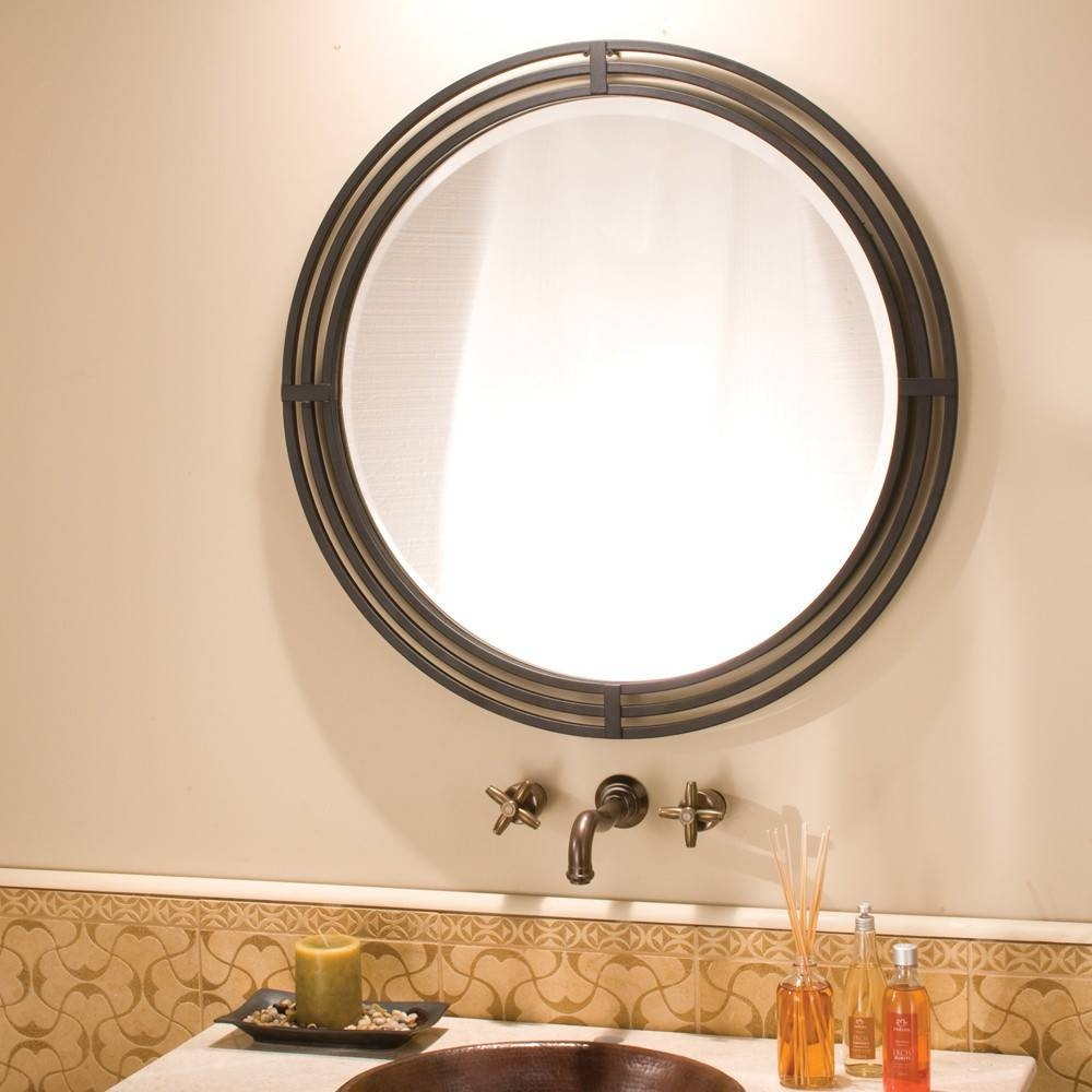 Asana Round Wrougth Iron Framed Wall Mirror Mr708 | Native Trails regarding Wrought Iron Bathroom Mirrors (Image 6 of 15)