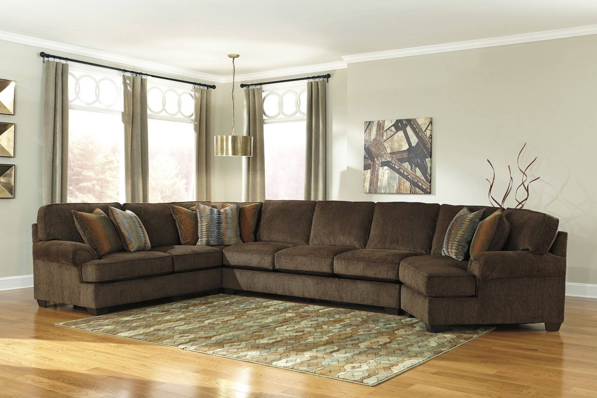 Ashley Furniture Sectionals. Ashley Furniture Zavion Sectional In within Ashley Furniture Brown Corduroy Sectional Sofas (Image 4 of 15)