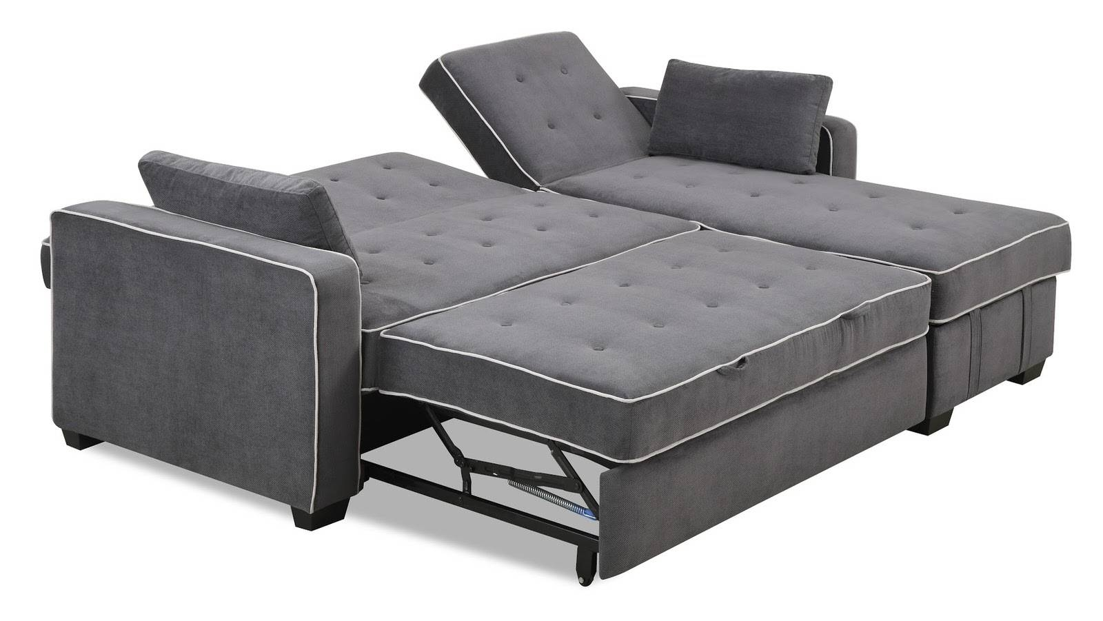 Augustine King Size Sofa Bed Moon Greyserta Lifestyle Within Beds Image
