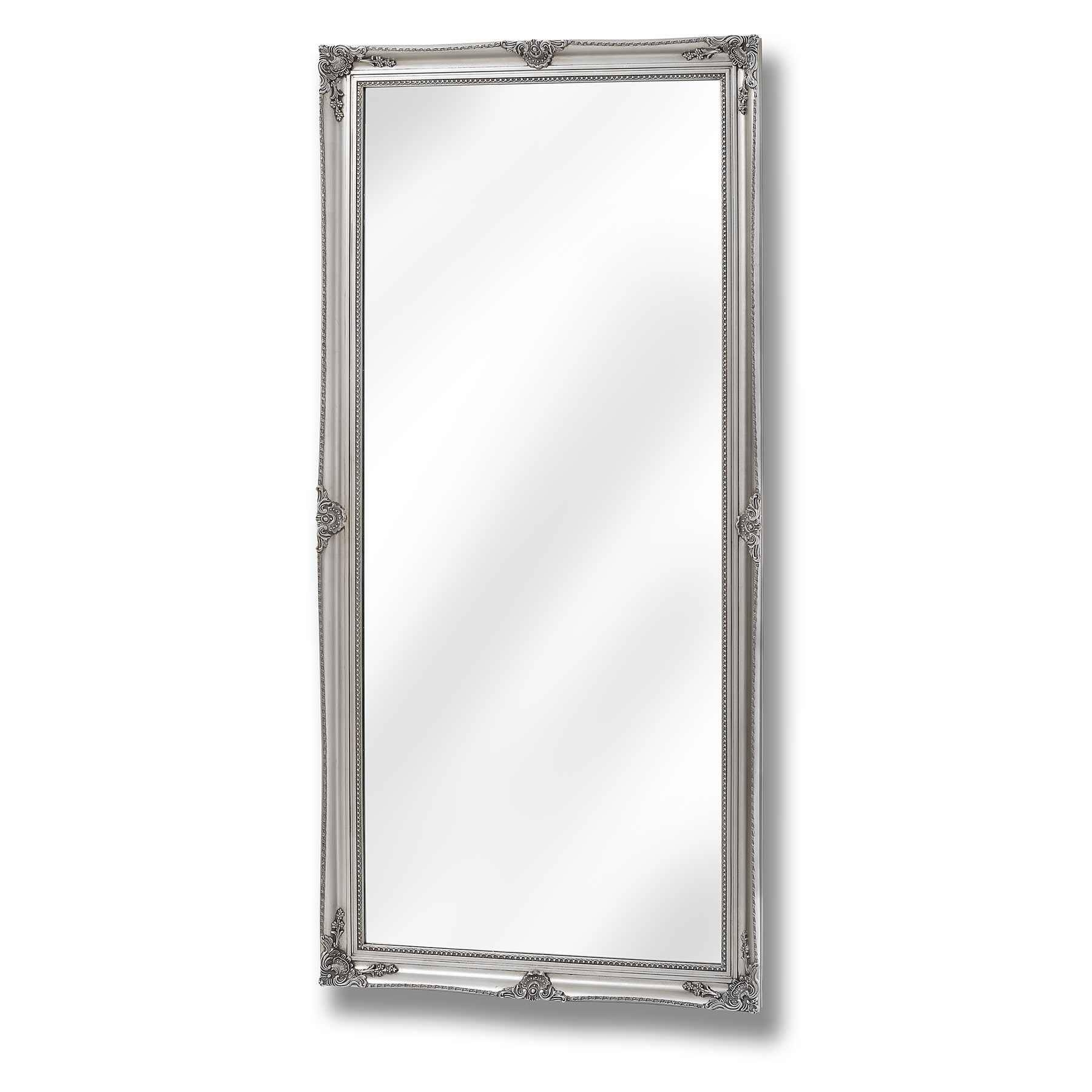 Baroque Antique Silver Full Length Mirror throughout Silver Full Length Mirrors (Image 2 of 15)