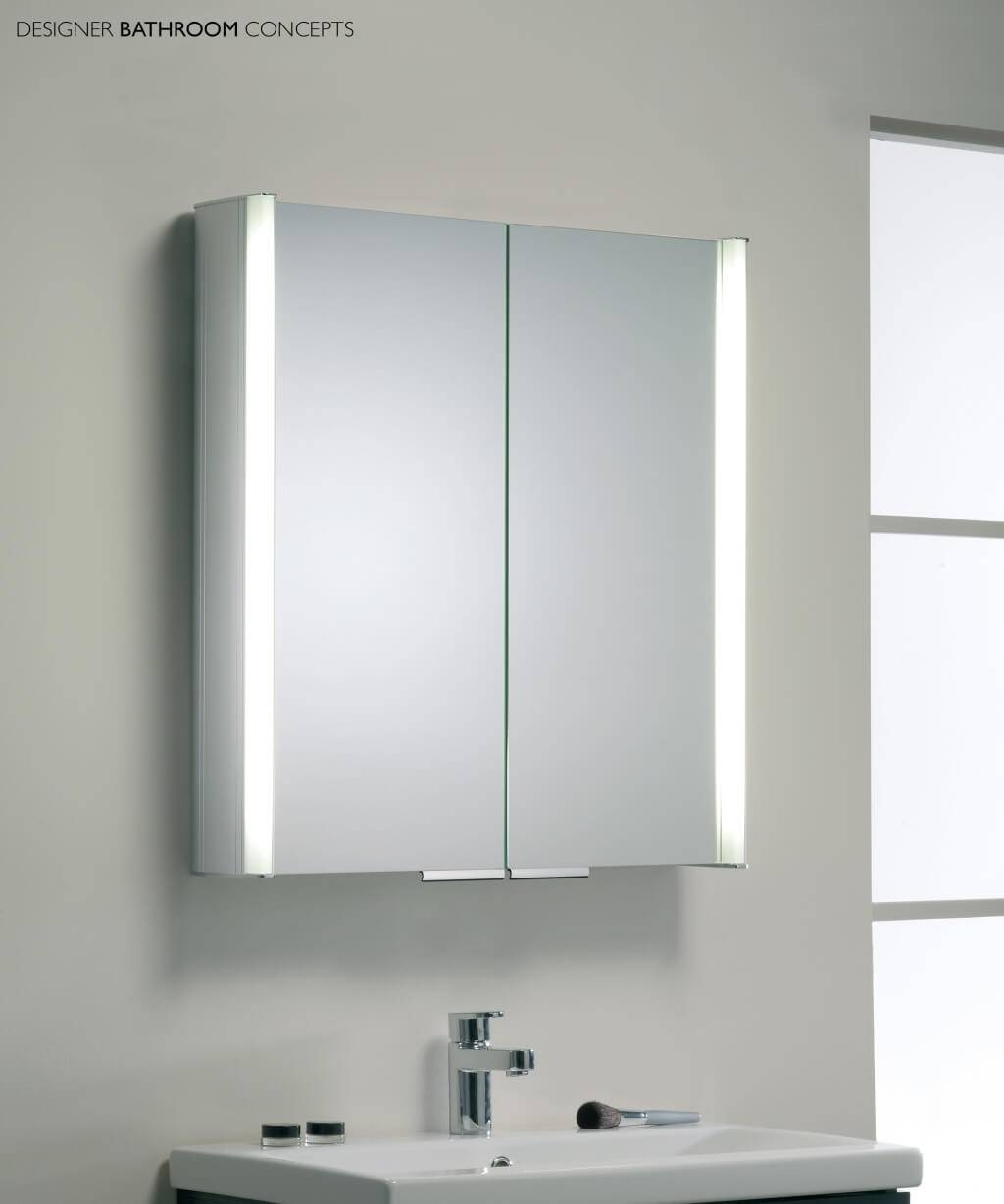 Bathroom: Appealing Bathroom Illuminated Mirror Cabinet And - Benevola within Black Cabinet Mirrors (Image 4 of 15)