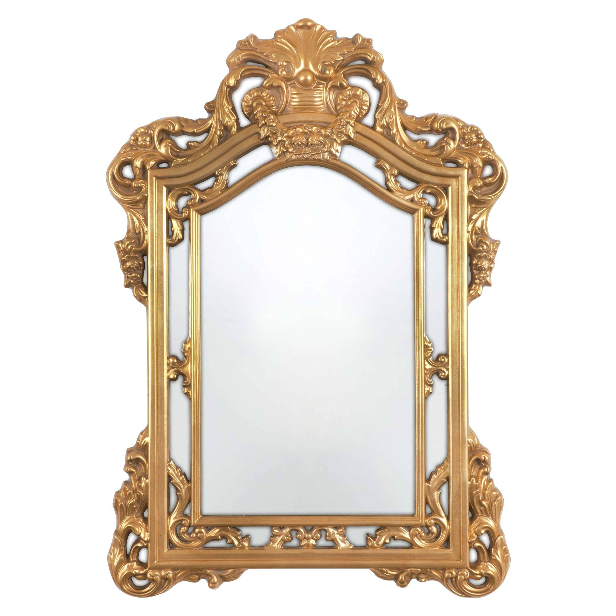 Bathroom: Astounding Baroque Mirror With Unique Frame For Bathroom within Silver Baroque Mirrors (Image 3 of 15)