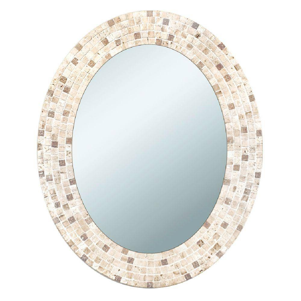 Bathroom: Bronze Framed Mirror | Oval Mirrors For Bathroom | Oval pertaining to Bronze Mosaic Mirrors (Image 4 of 15)