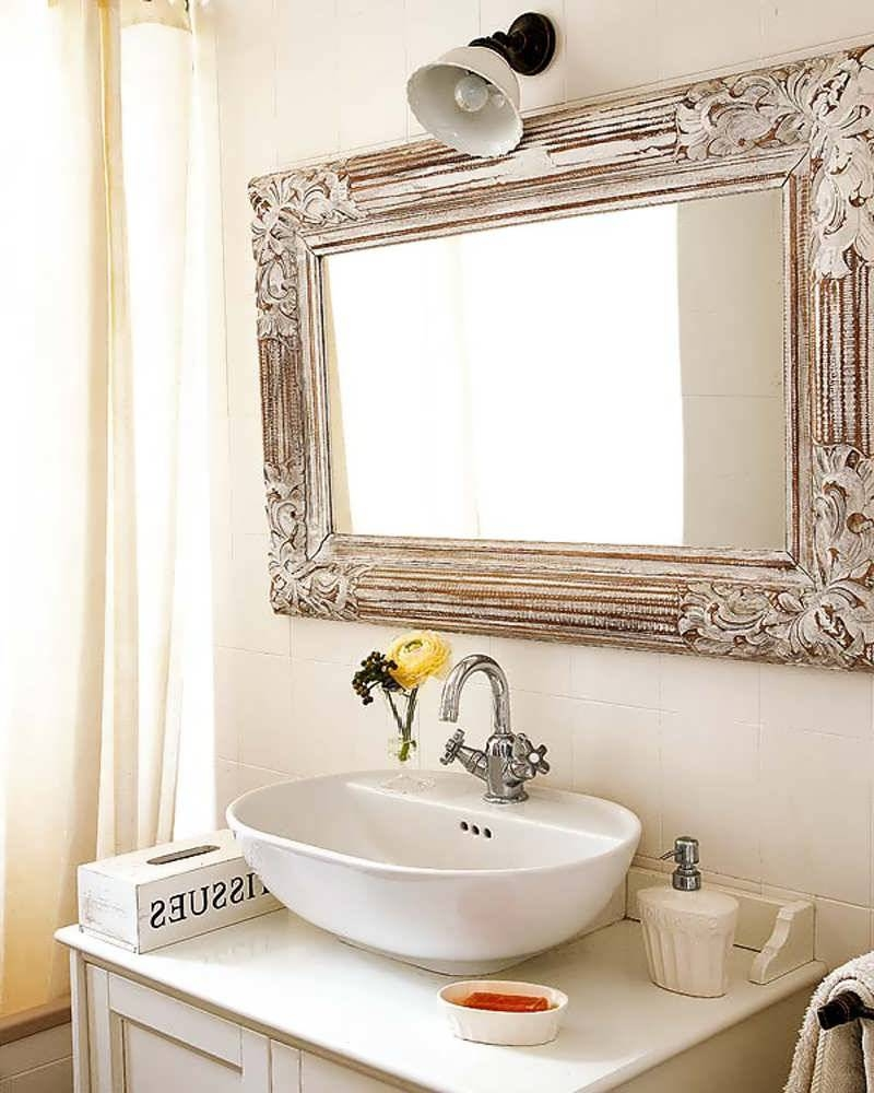 Bathroom Cabinets : Antique Bathroom Mirrors Large Bathroom Mirror within Antique Bathroom Mirrors (Image 4 of 15)