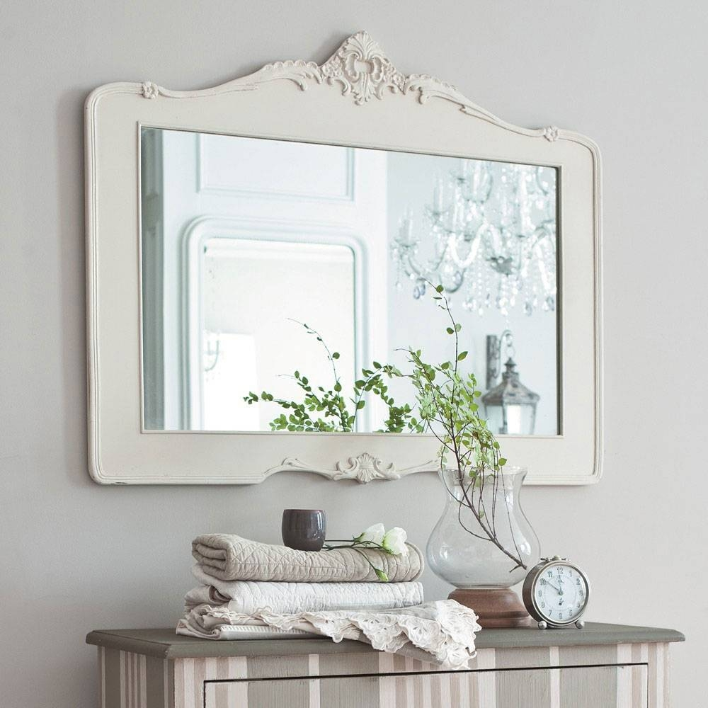 Bathroom Cabinets : Bathroom Antique White Framed Bathroom Mirror within Antique Bathroom Mirrors (Image 5 of 15)