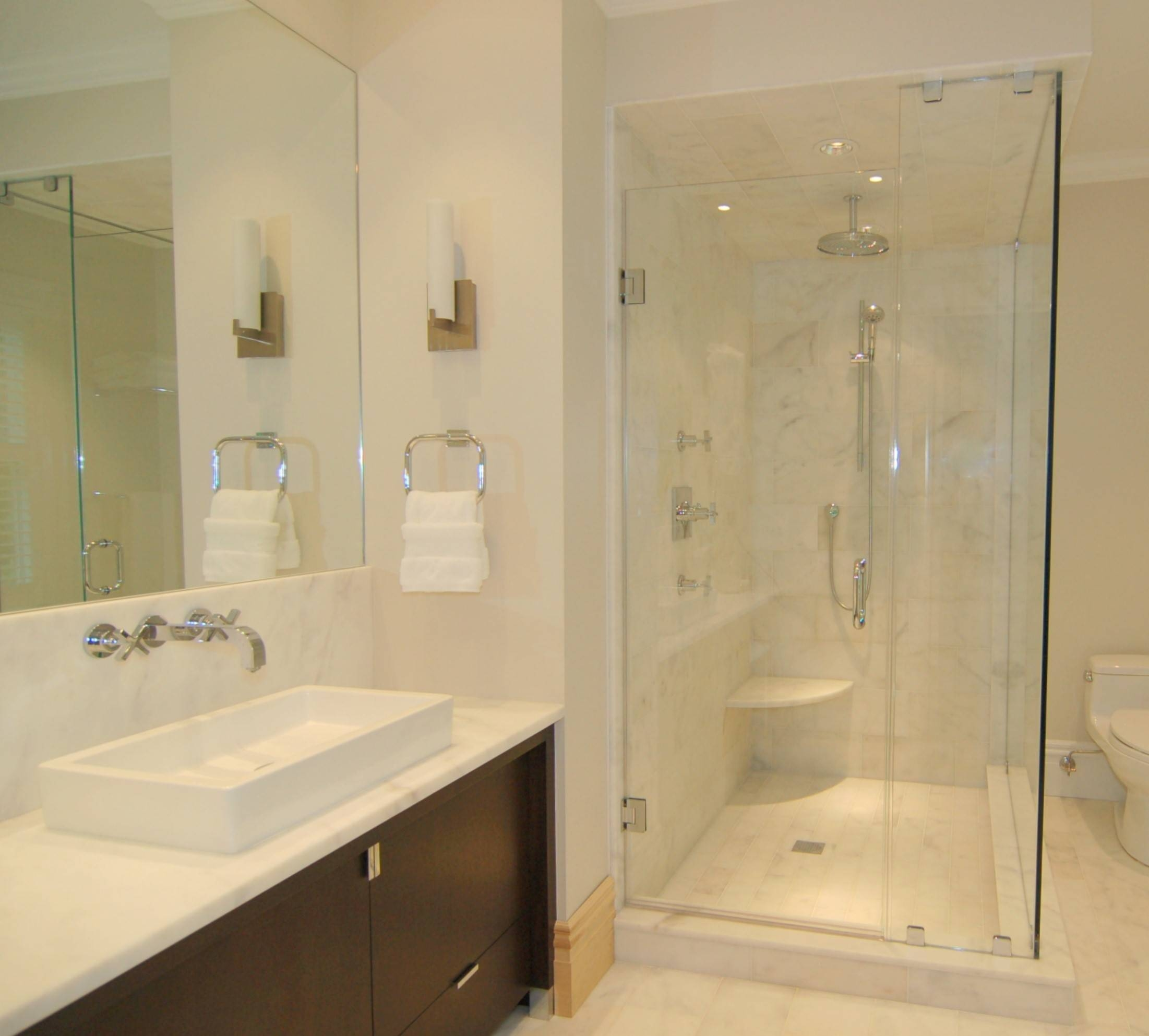 Bathroom Cabinets : Beveled Mirror Wall Mounted Mirror Bathroom regarding Wall Mirrors Without Frame (Image 2 of 15)